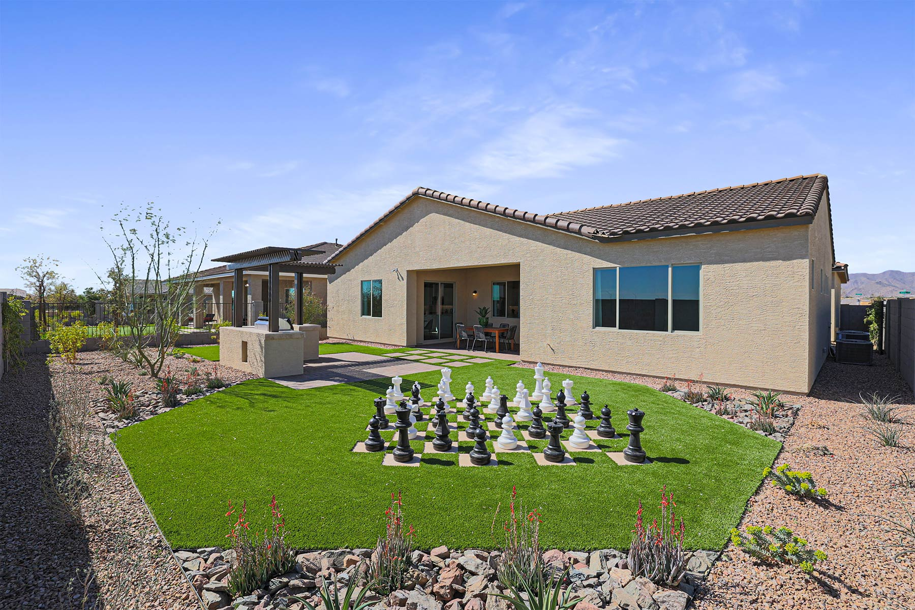Fairway Plan Elevation Back Side at Azure Canyon in Litchfield Park Arizona by Mattamy Homes