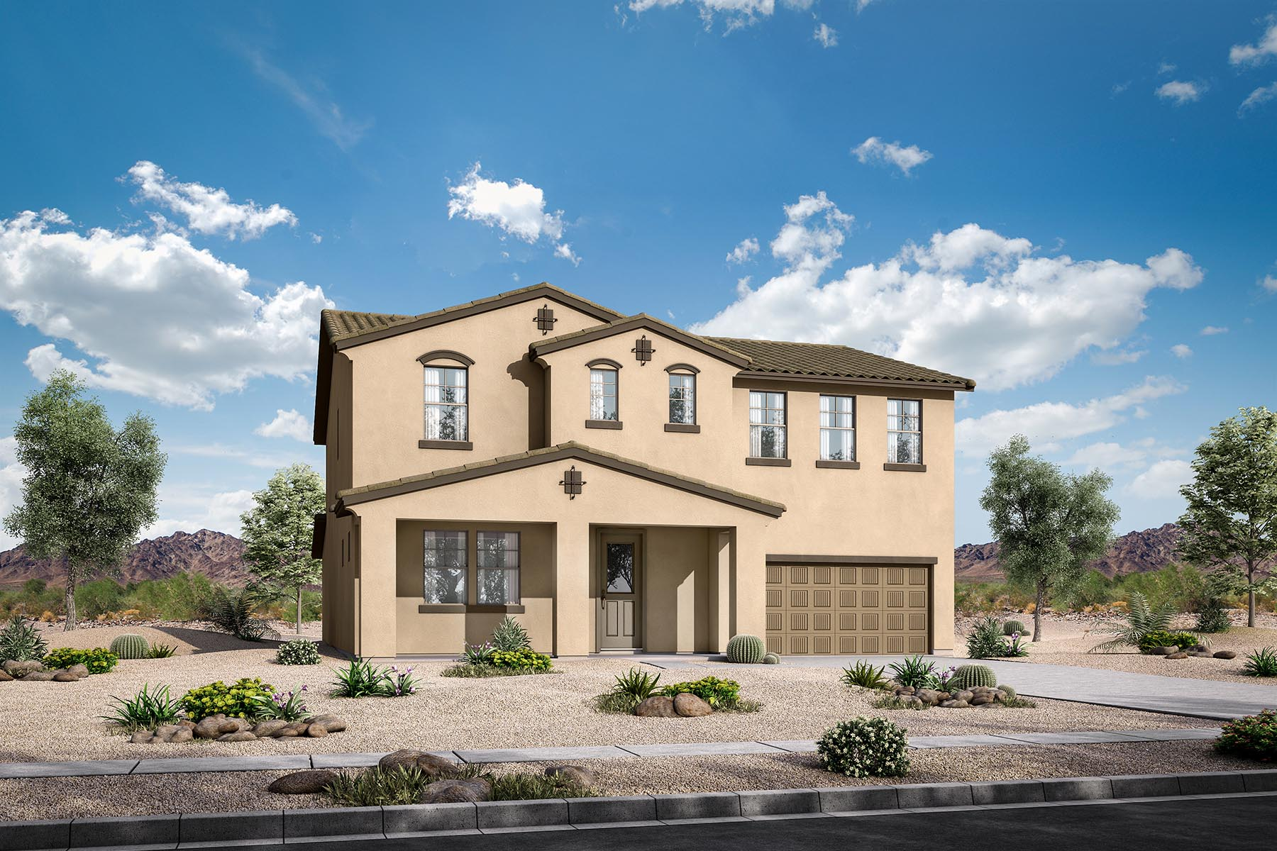 Leander Plan Elevation Front at Azure Canyon in Litchfield Park Arizona by Mattamy Homes