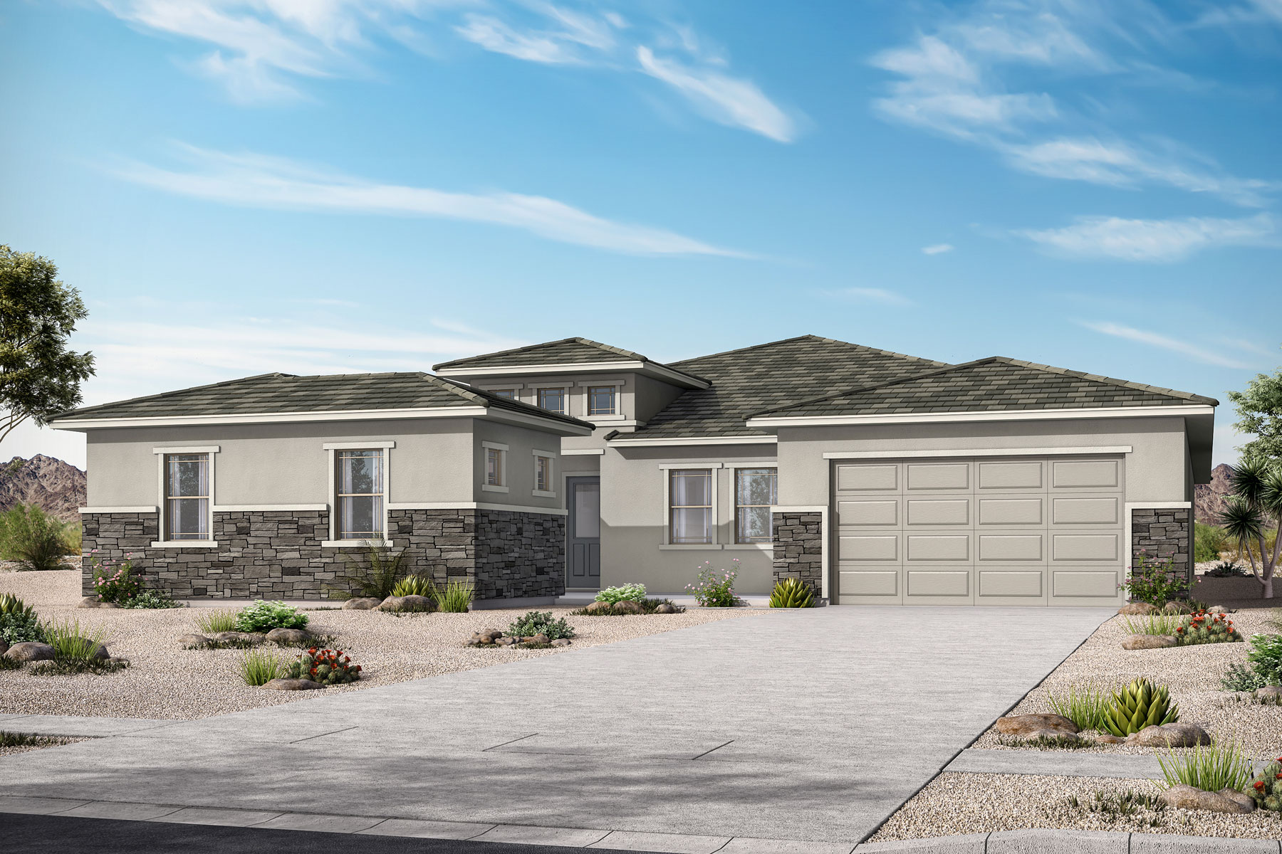 Marlow Plan Elevation Front at Azure Canyon in Litchfield Park Arizona by Mattamy Homes