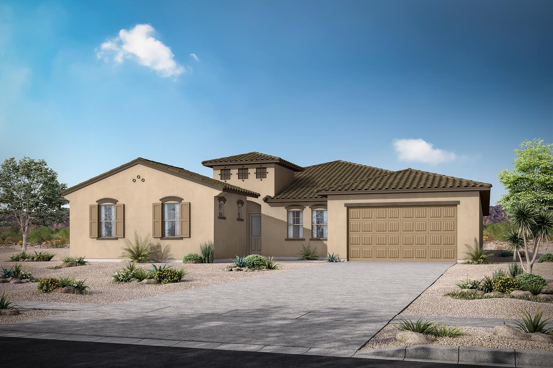 Azure Canyon Elevation Front in Goodyear Arizona by Mattamy Homes