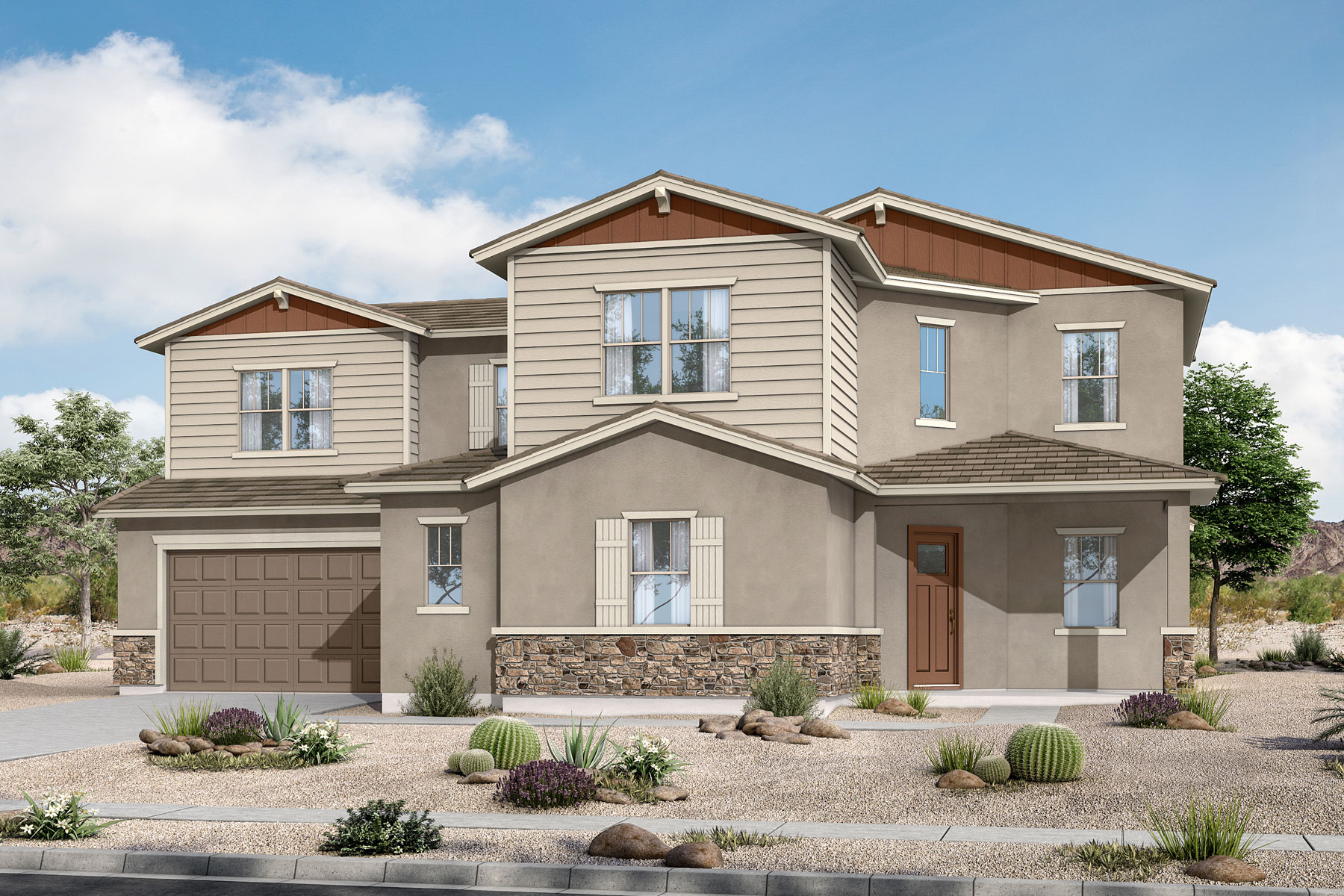 Preston Plan PHX_AzureCanyon_Preston_Craftsman at Azure Canyon in Litchfield Park Arizona by Mattamy Homes