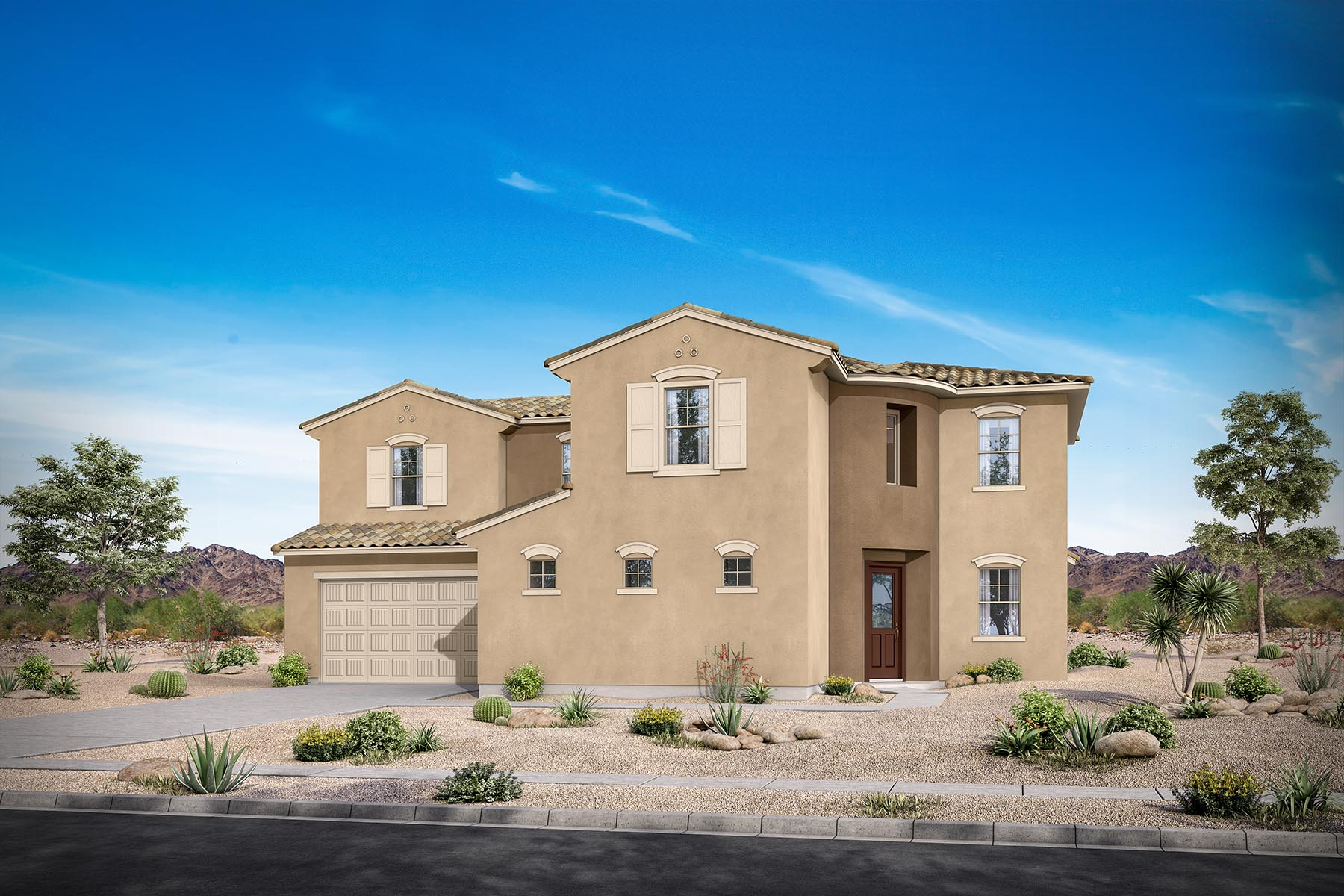 Preston Plan Elevation Front at Azure Canyon in Litchfield Park Arizona by Mattamy Homes