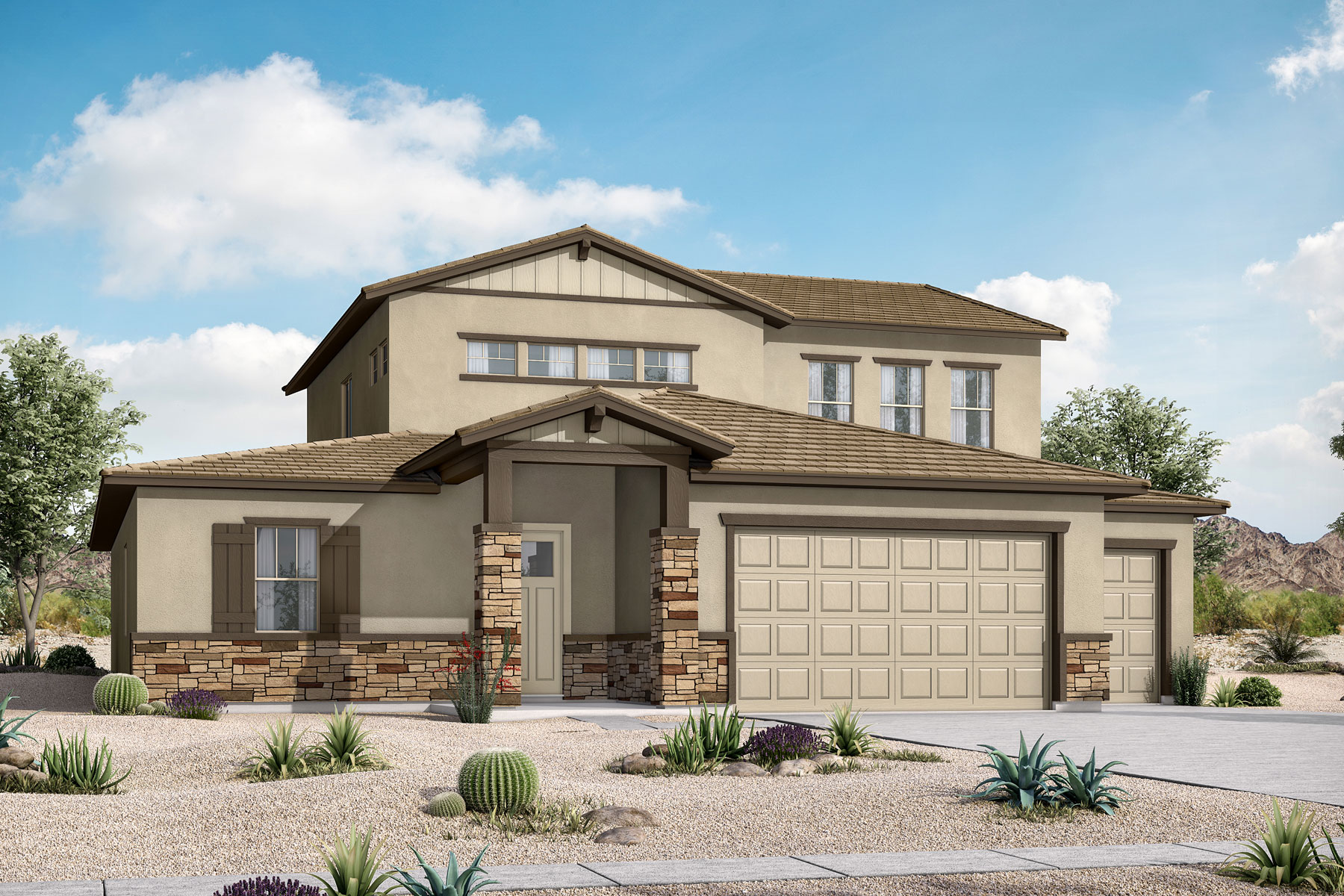 Trenton Plan Elevation Front at Azure Canyon in Goodyear Arizona by Mattamy Homes