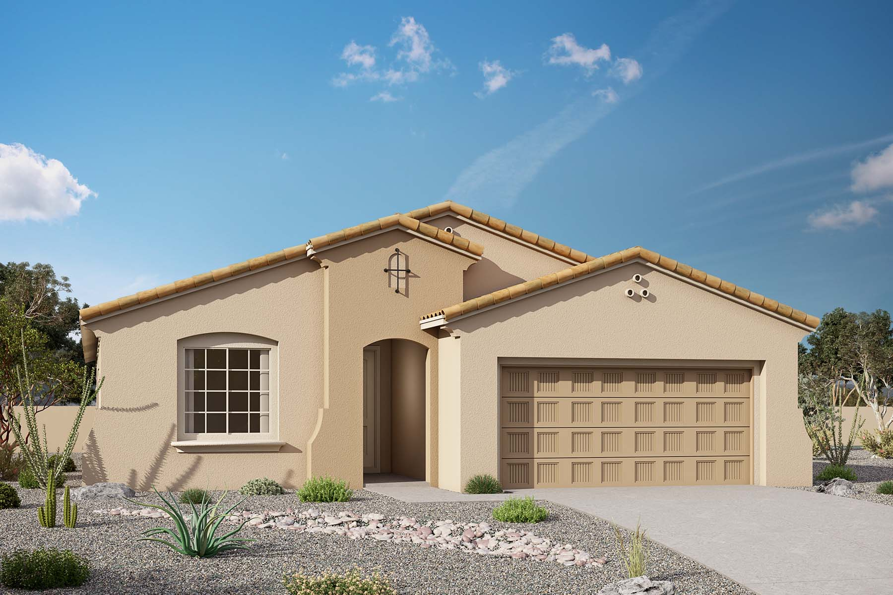 Allendale Plan Elevation Front at Brookside at Arroyo Seco in Buckeye Arizona by Mattamy Homes