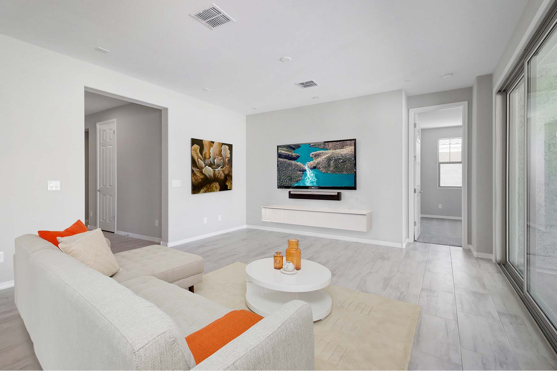 Allendale Plan Media Room at Malone Estates in Queen Creek Arizona by Mattamy Homes