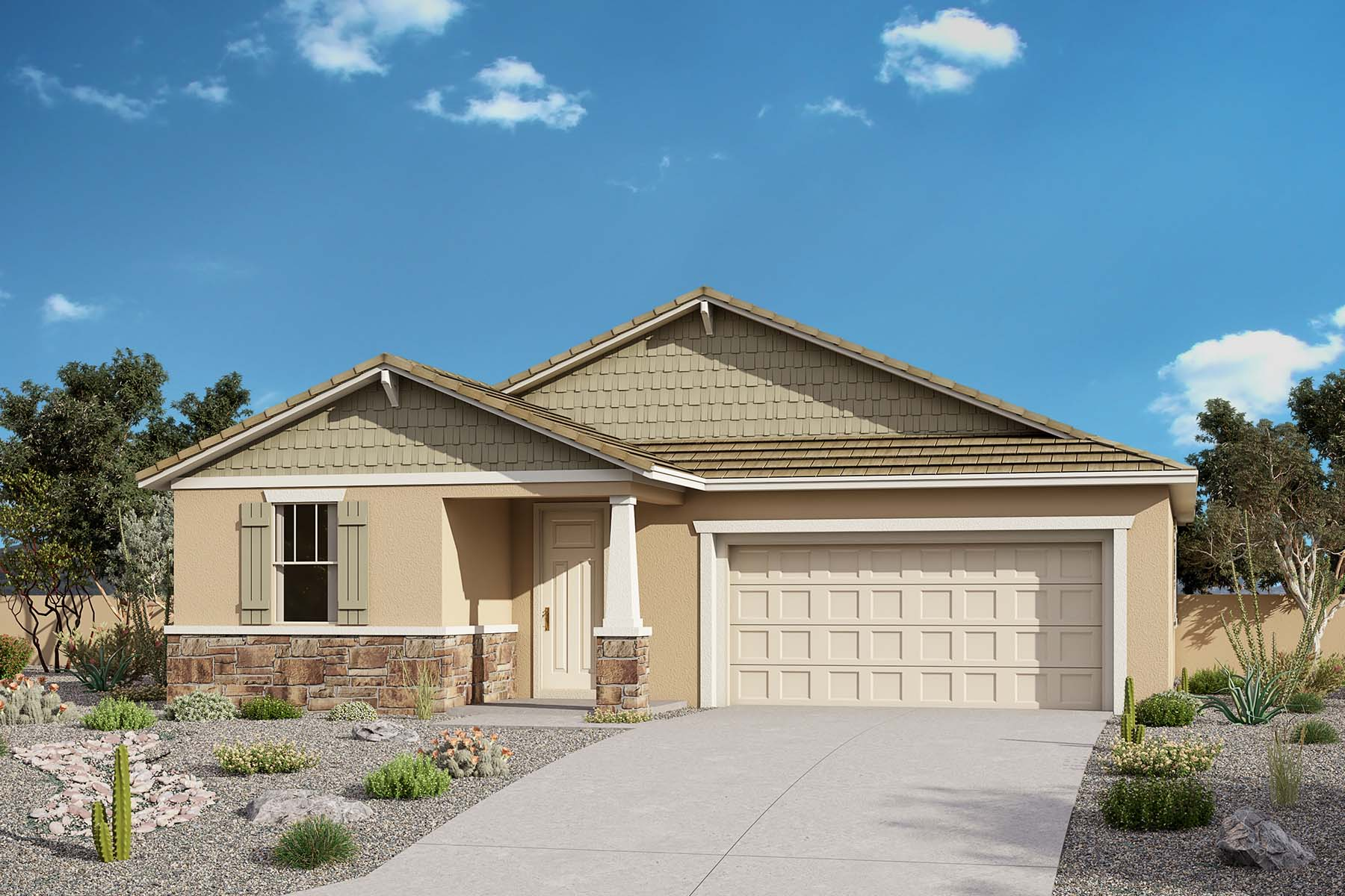 Bluebell Plan Elevation Front at Brookside at Arroyo Seco in Buckeye Arizona by Mattamy Homes