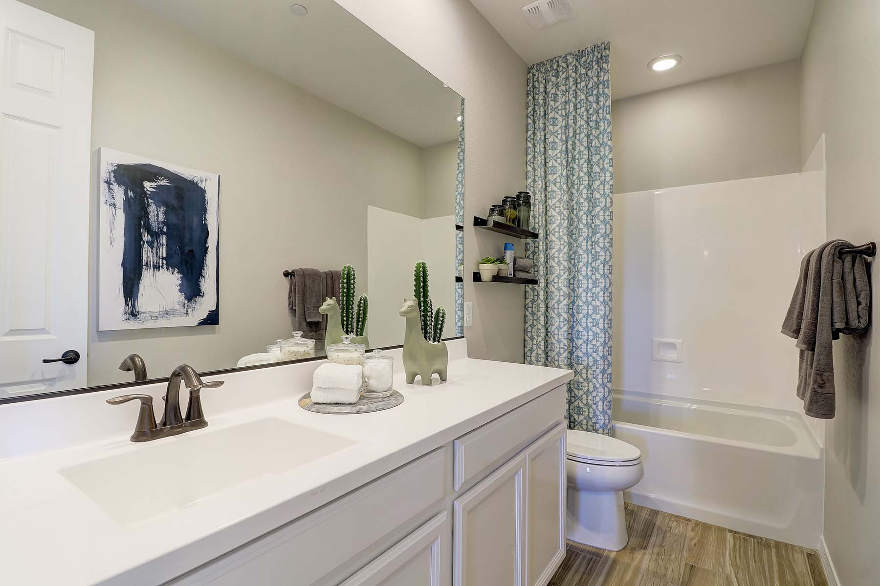 Everly Plan Bath at Brookside at Arroyo Seco in Buckeye Arizona by Mattamy Homes