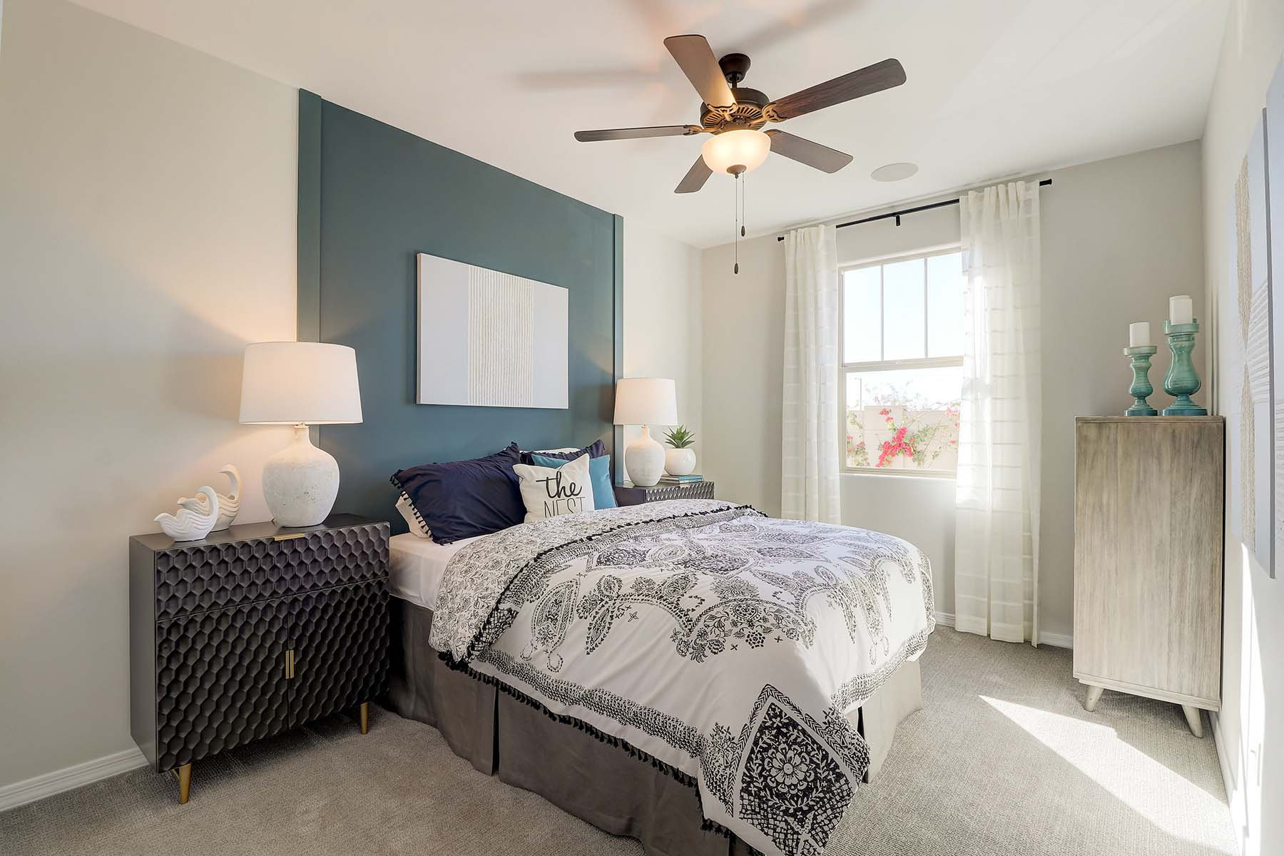 Everly Plan Bedroom at Brookside at Arroyo Seco in Buckeye Arizona by Mattamy Homes