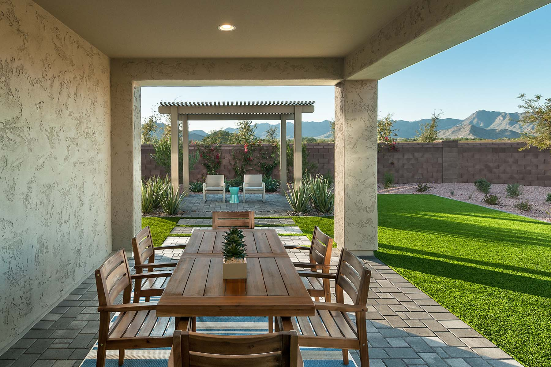 Everly Plan House Backyard at Brookside at Arroyo Seco in Buckeye Arizona by Mattamy Homes
