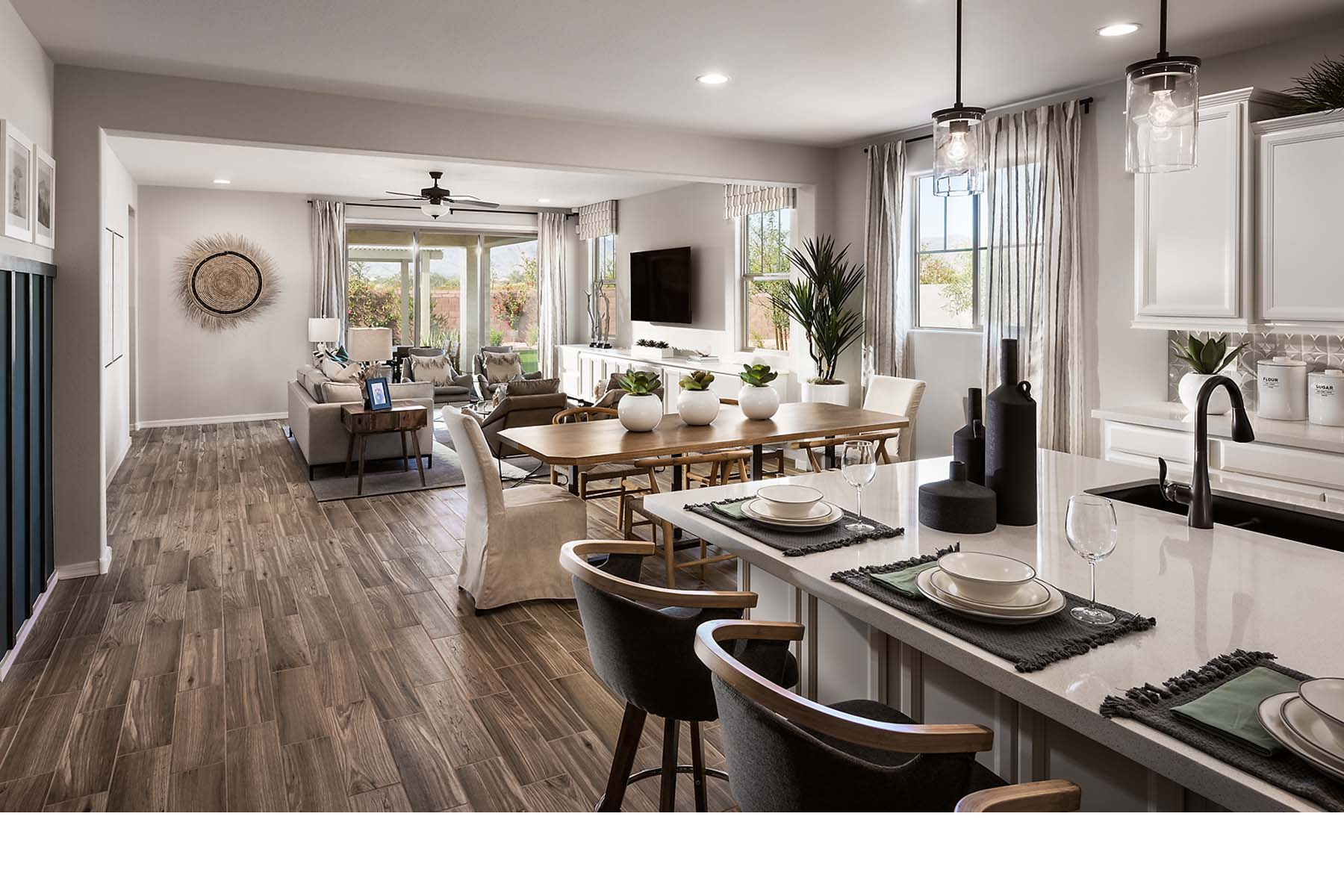 Malone Estates Greatroom in Queen Creek Arizona by Mattamy Homes