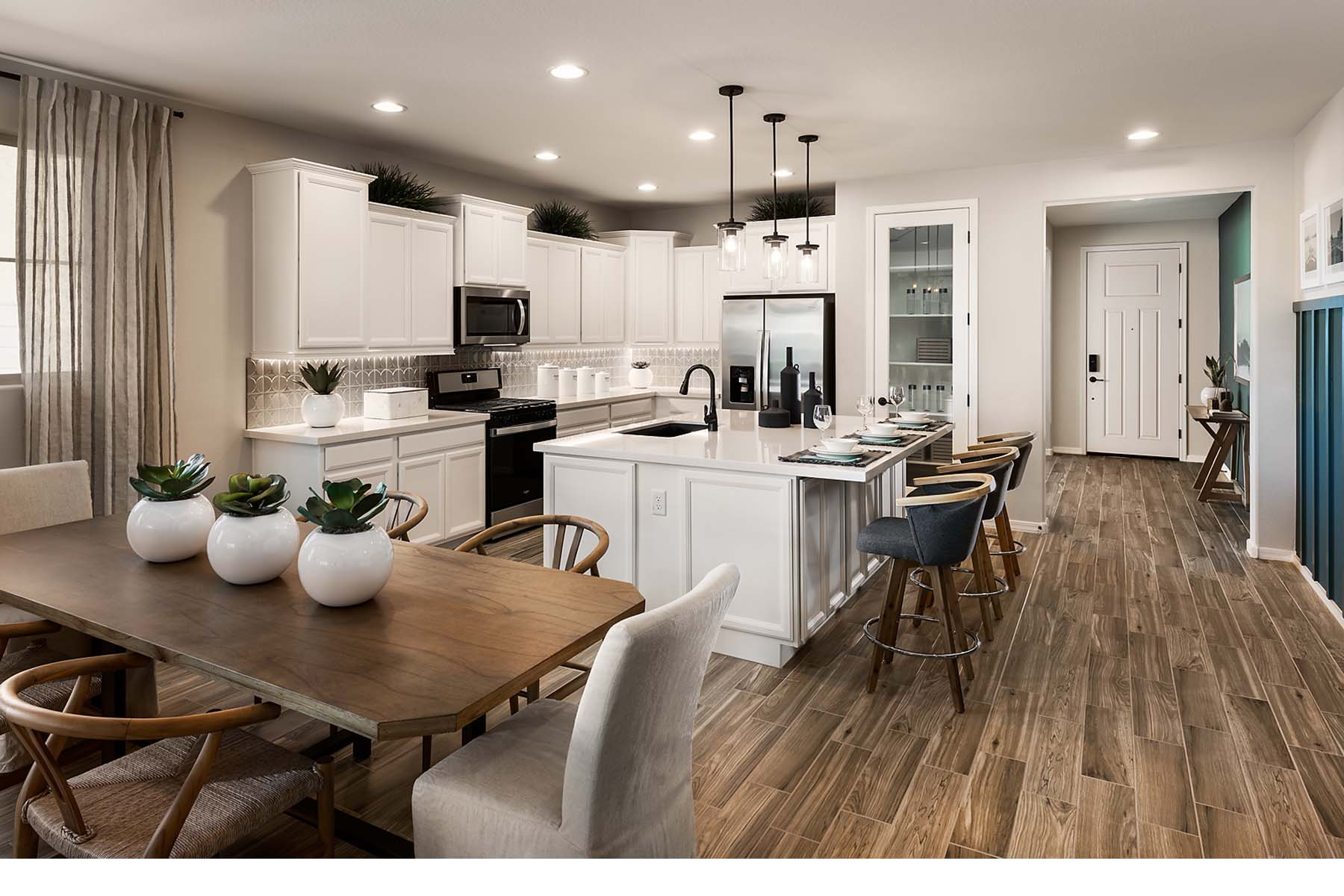 Everly Plan Kitchen at Brookside at Arroyo Seco in Buckeye Arizona by Mattamy Homes
