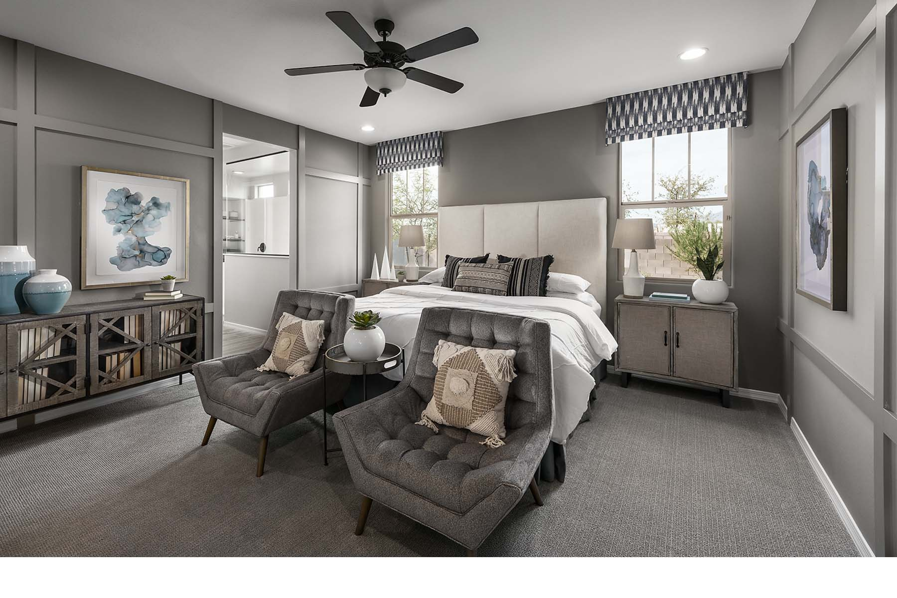 Malone Estates Bedroom in Queen Creek Arizona by Mattamy Homes