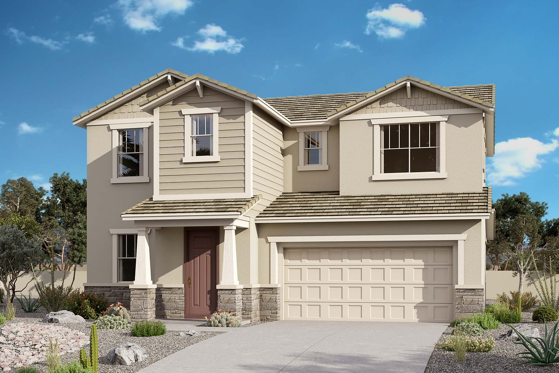 Marigold Plan Elevation Front at Brookside at Arroyo Seco in Buckeye Arizona by Mattamy Homes