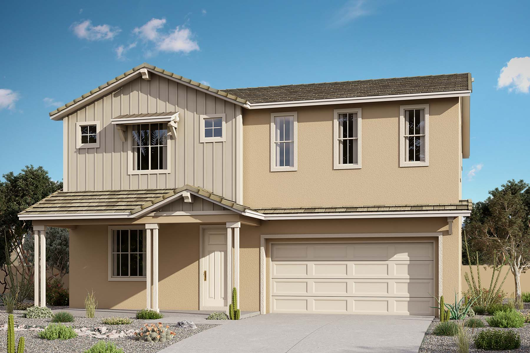 Sunflower Plan Elevation Front at Brookside at Arroyo Seco in Buckeye Arizona by Mattamy Homes