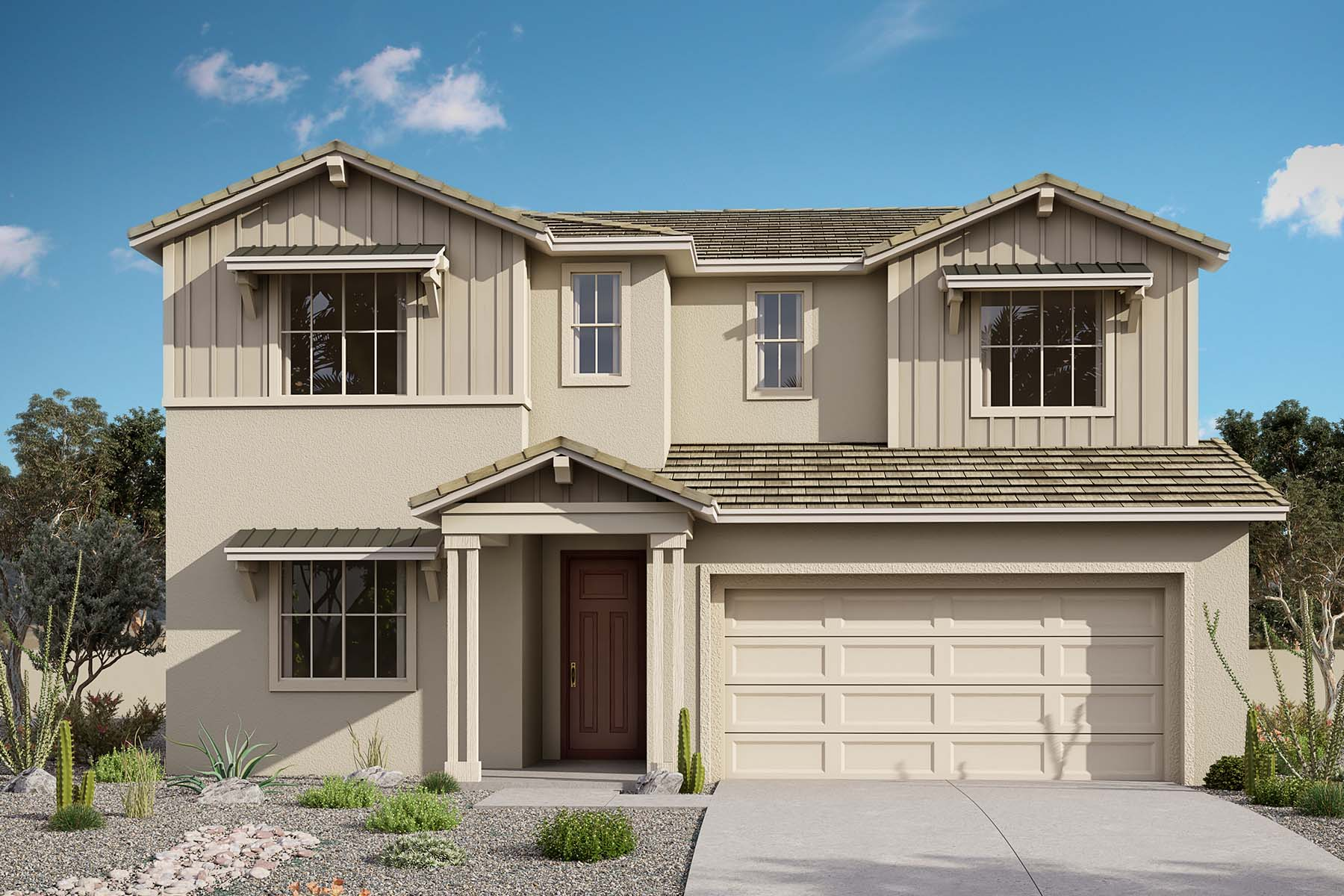 Willowleaf Plan Elevation Front at Brookside at Arroyo Seco in Buckeye Arizona by Mattamy Homes