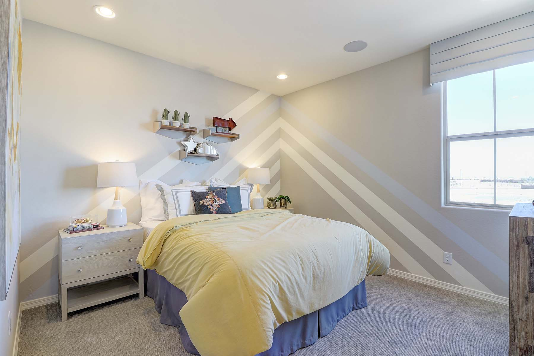 Willowleaf Plan Bedroom at Brookside at Arroyo Seco in Buckeye Arizona by Mattamy Homes