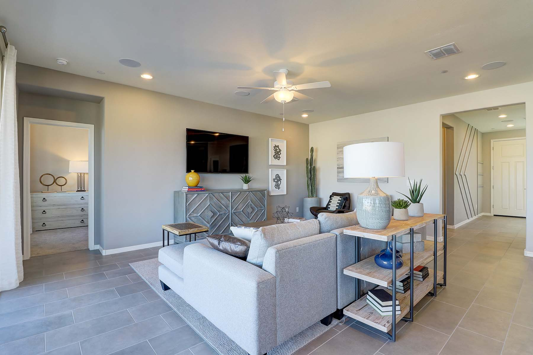 Willowleaf Plan Greatroom at Brookside at Arroyo Seco in Buckeye Arizona by Mattamy Homes