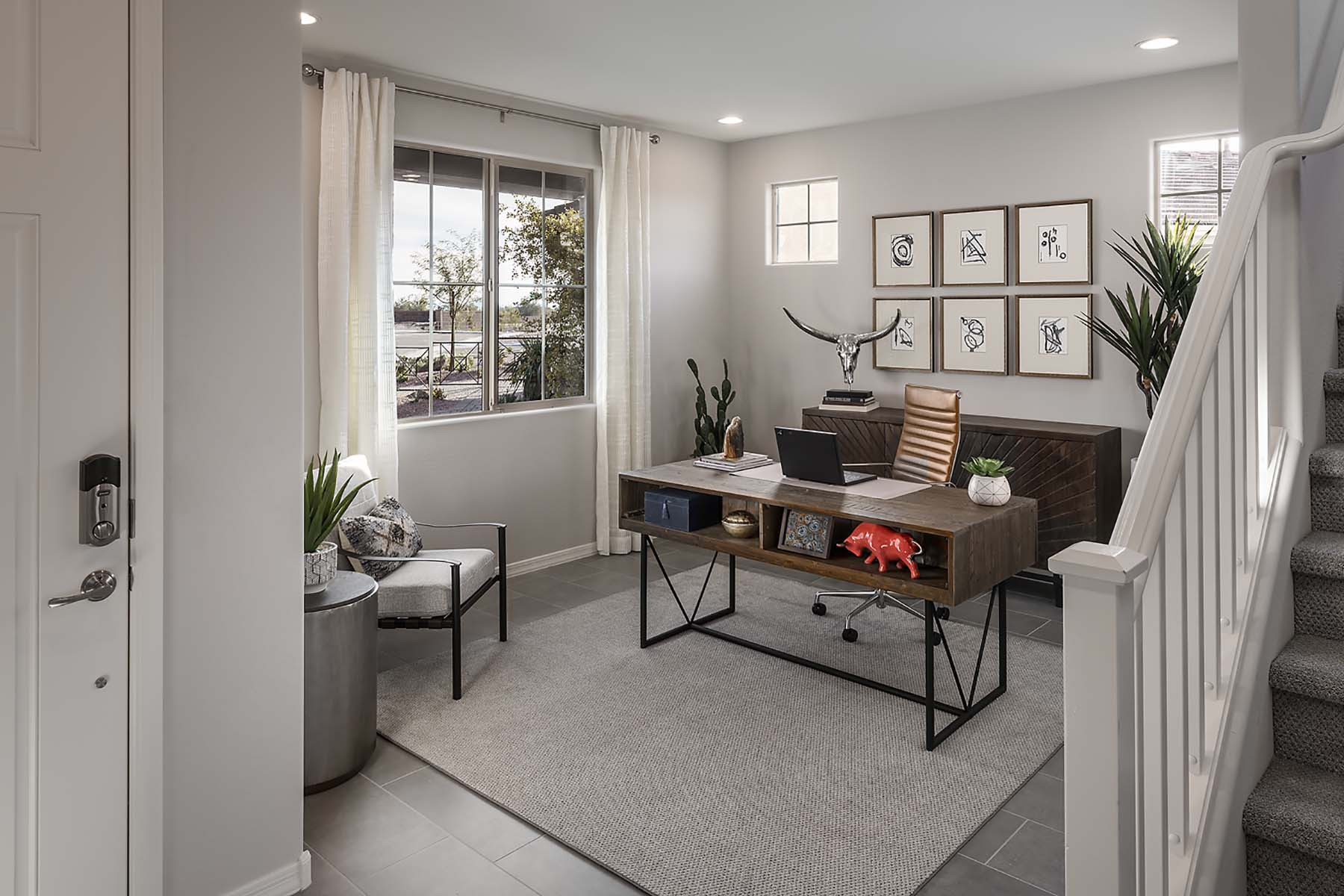 Willowleaf Plan Study Room at Brookside at Arroyo Seco in Buckeye Arizona by Mattamy Homes