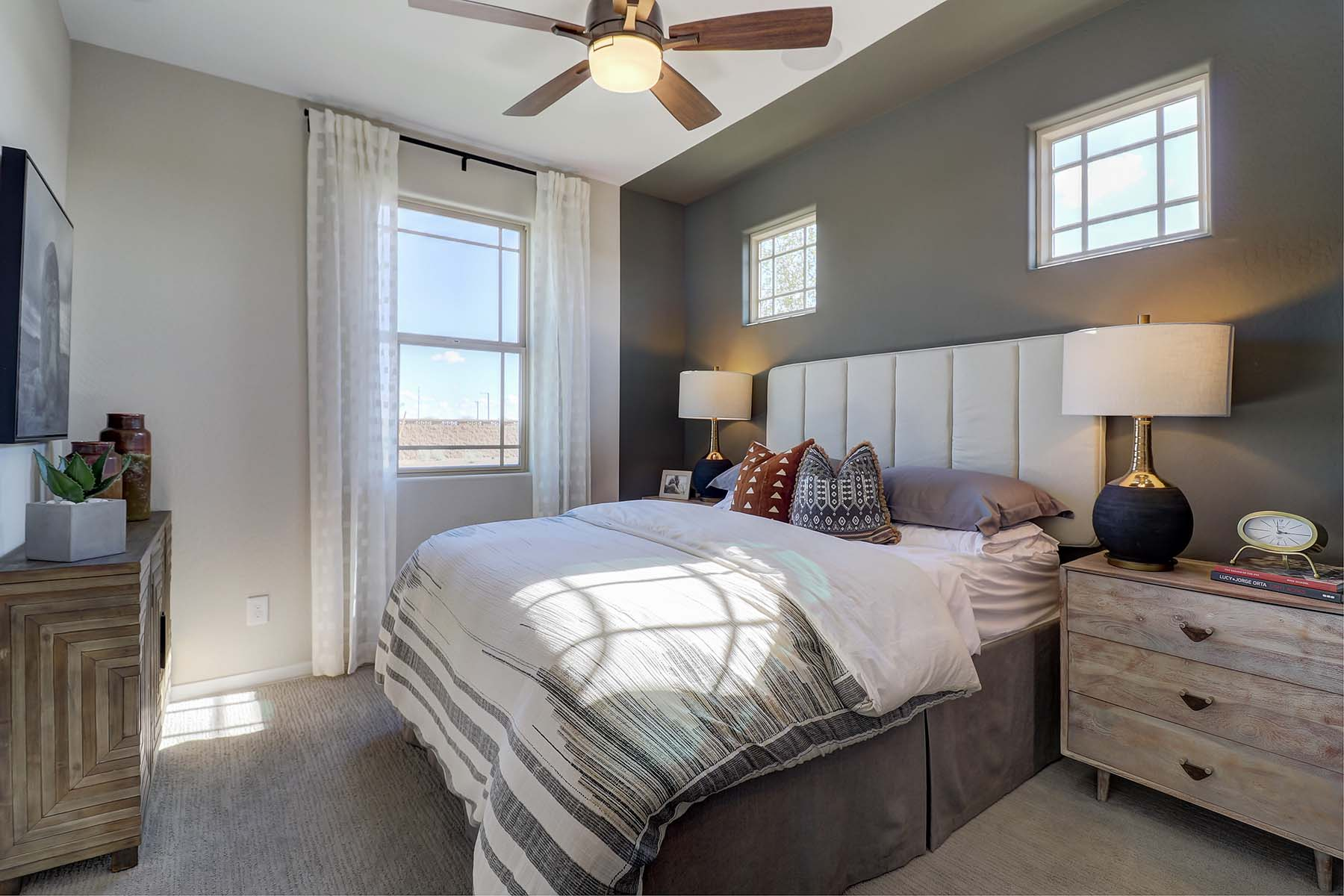 Elwood Plan Bedroom at Crestwood at Canyon Trails in Goodyear Arizona by Mattamy Homes