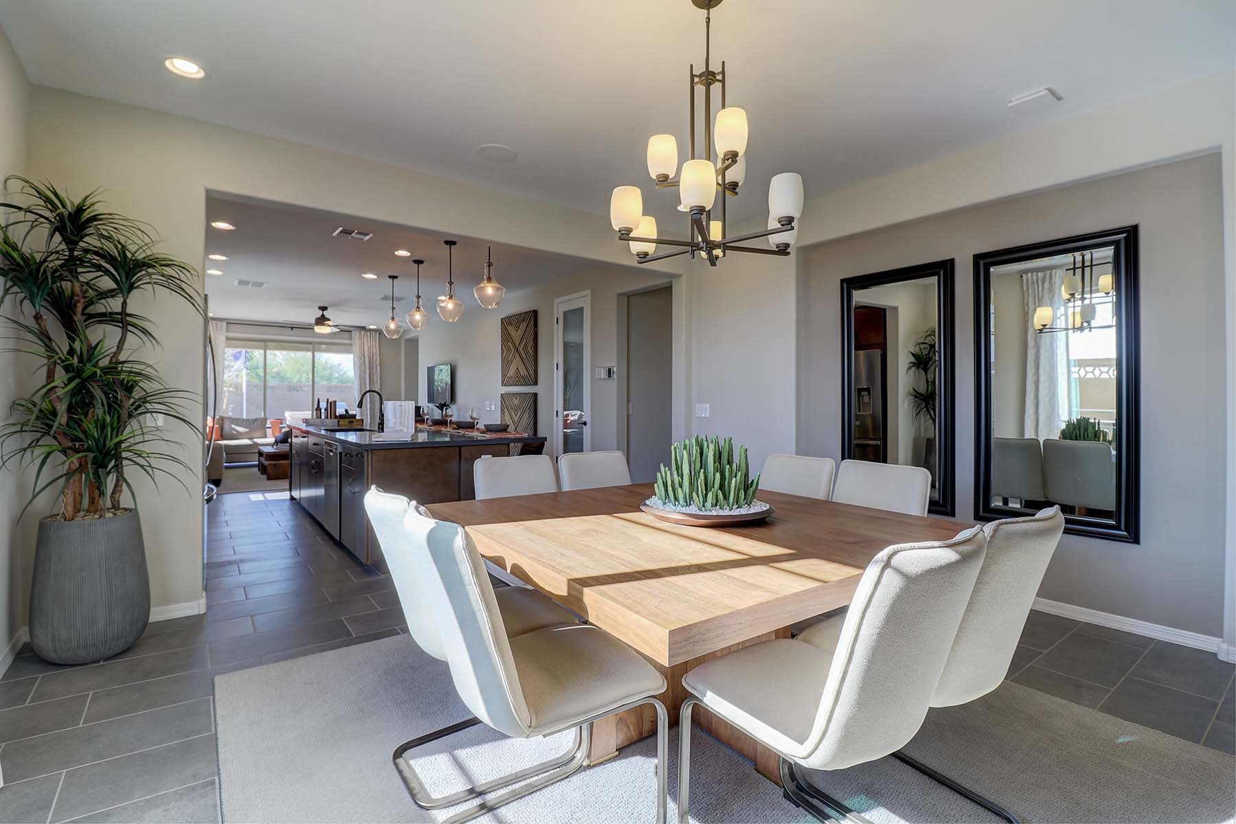 Elwood Plan Dining at Crestwood at Canyon Trails in Goodyear Arizona by Mattamy Homes