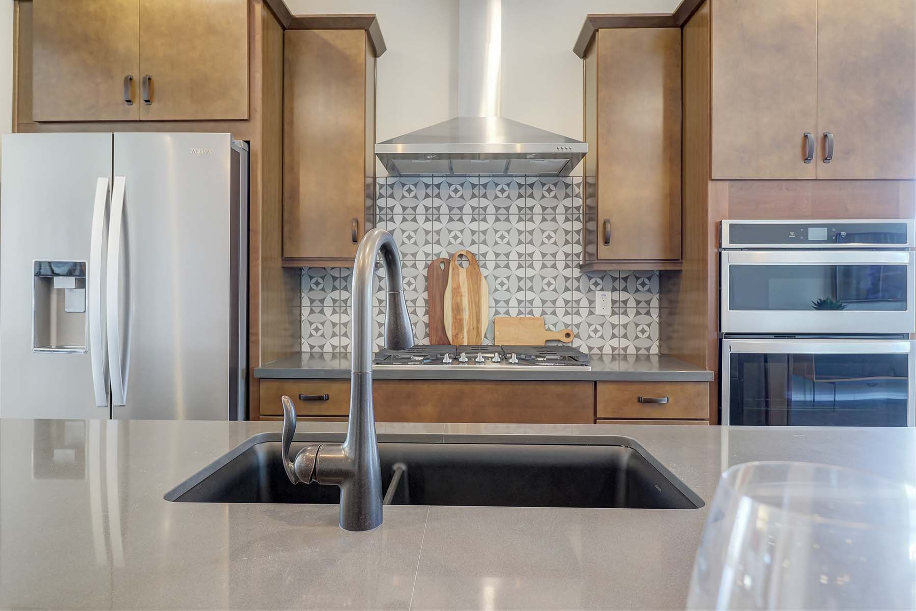 Elwood Plan Kitchen at Crestwood at Canyon Trails in Goodyear Arizona by Mattamy Homes