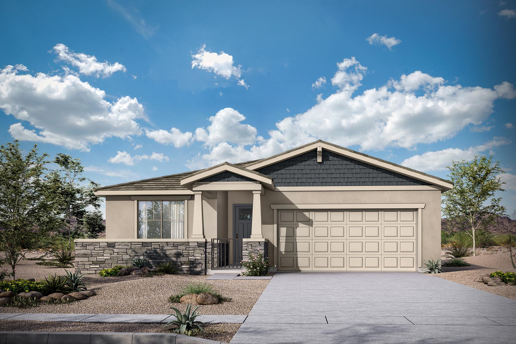 Allendale Plan Elevation Front at Malone Estates in Queen Creek Arizona by Mattamy Homes