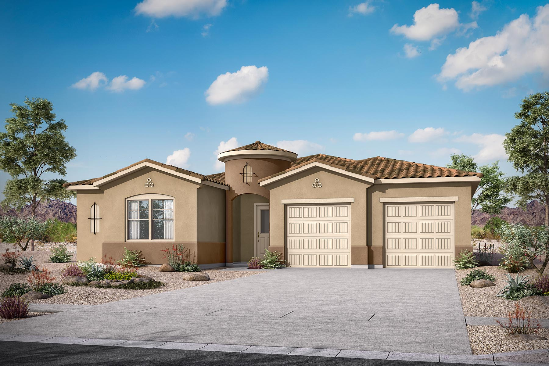 Calrosa Plan Elevation Front at Malone Estates in Queen Creek Arizona by Mattamy Homes