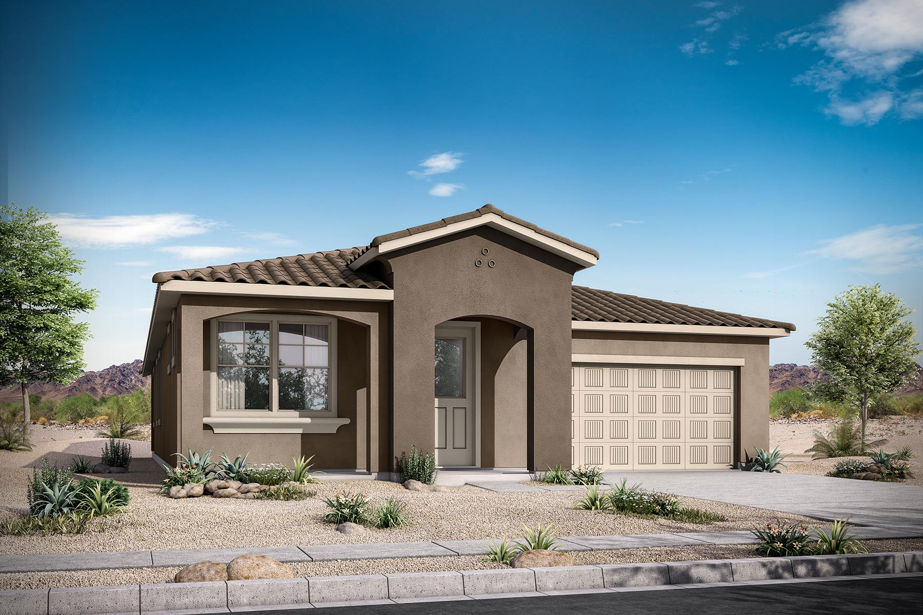 Everly Plan Elevation Front at Malone Estates - Arbors Collection in Queen Creek Arizona by Mattamy Homes