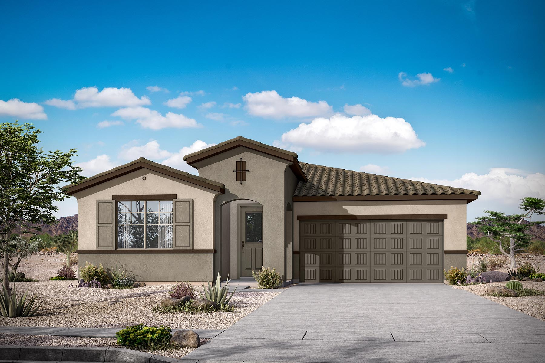Lantana Plan Elevation Front at Malone Estates - Arbors Collection in Queen Creek Arizona by Mattamy Homes