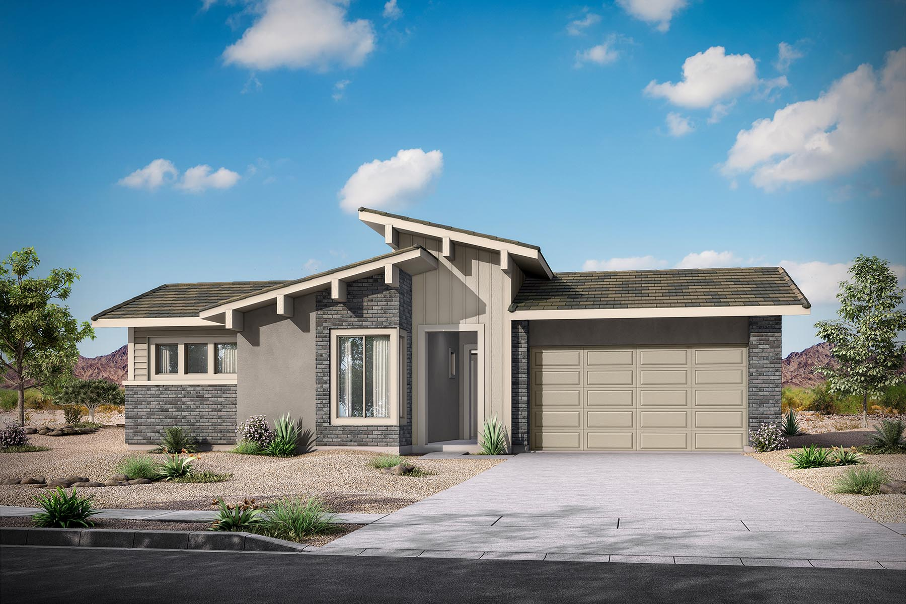 Martina Plan Elevation Front at Malone Estates in Queen Creek Arizona by Mattamy Homes