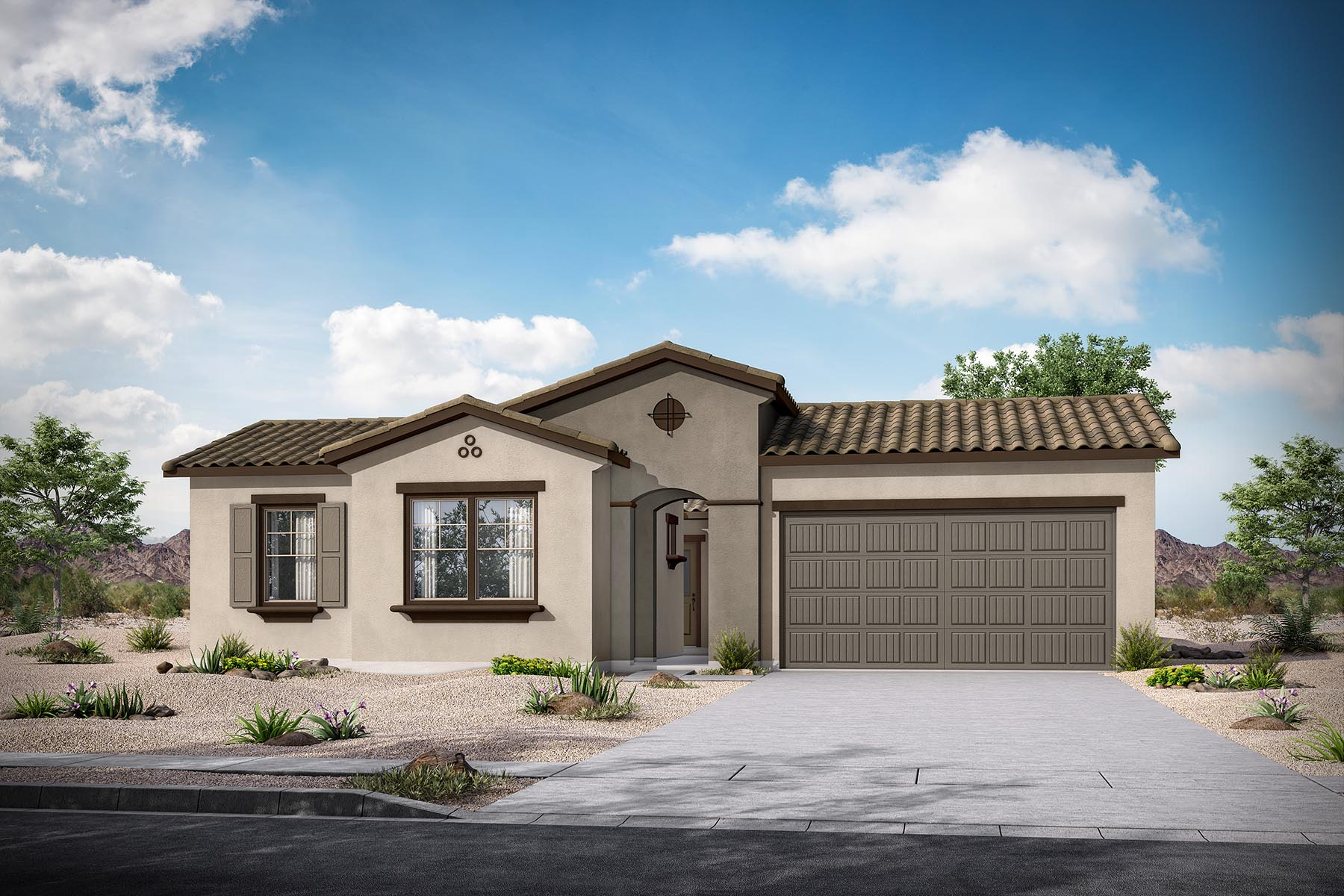 Martina Plan Elevation Front at Malone Estates - Groves Collection in Queen Creek Arizona by Mattamy Homes
