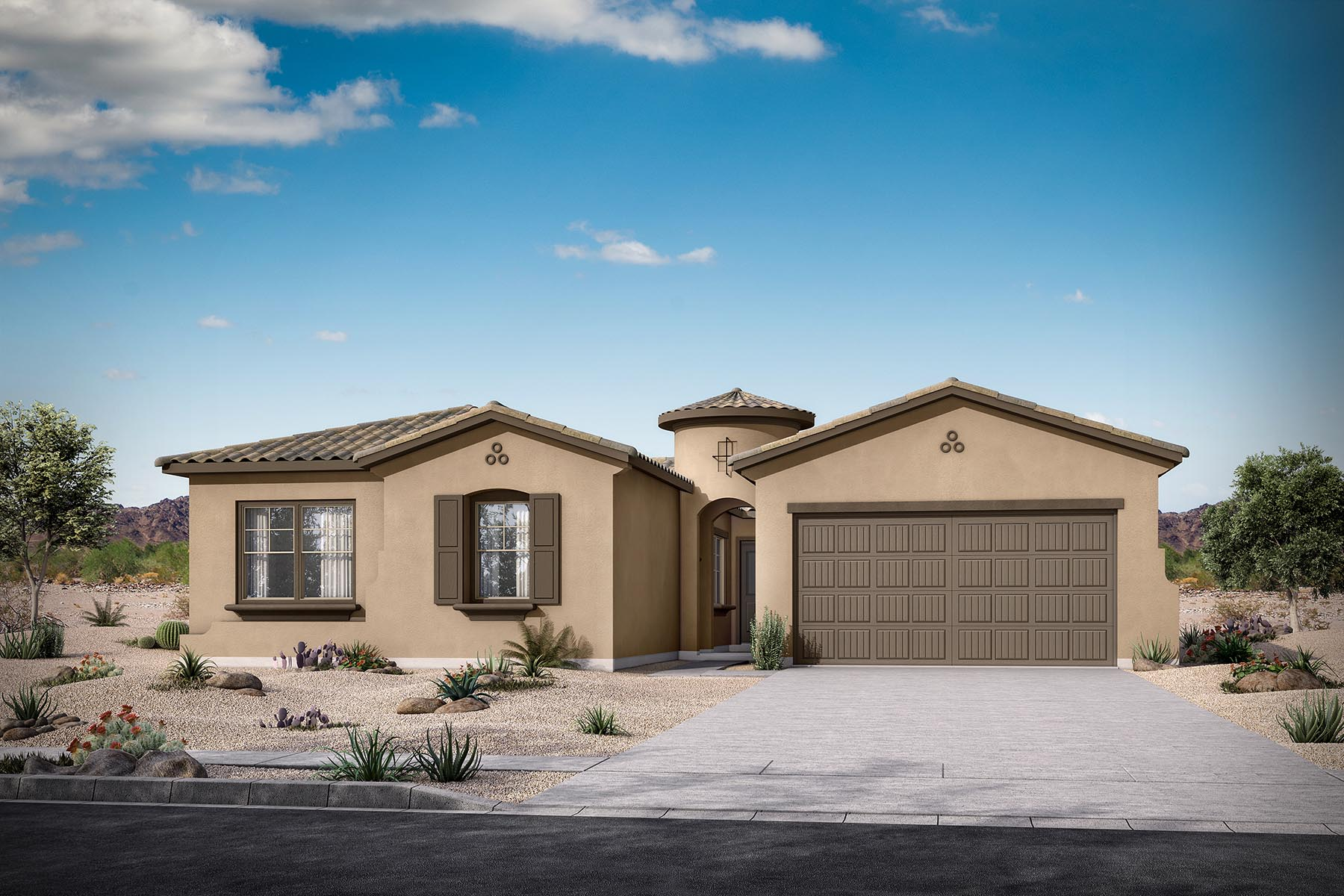 Navarro Plan Elevation Front at Malone Estates - Groves Collection in Queen Creek Arizona by Mattamy Homes