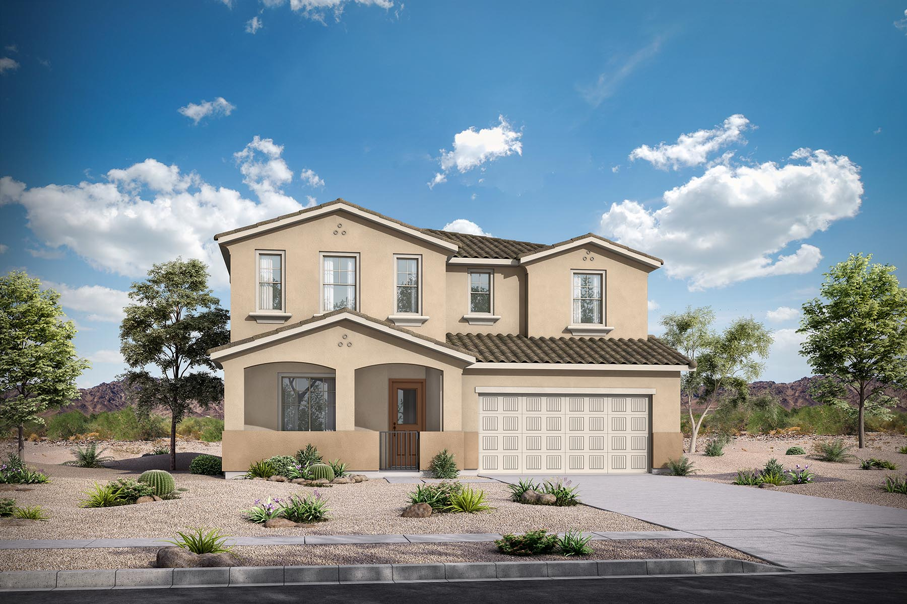 Willowleaf Plan Elevation Front at Malone Estates - Arbors Collection in Queen Creek Arizona by Mattamy Homes