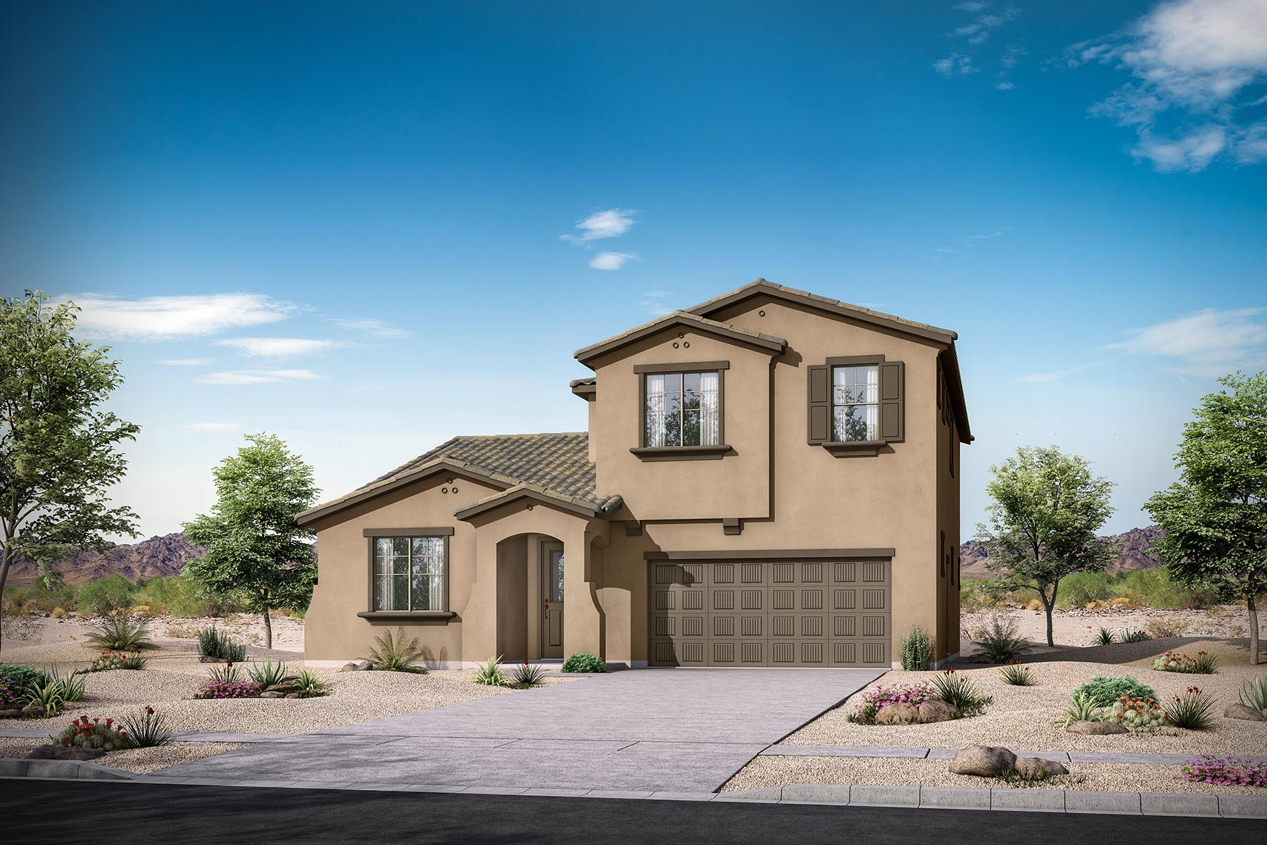 Zinnia Plan Elevation Front at Malone Estates - Arbors Collection in Queen Creek Arizona by Mattamy Homes