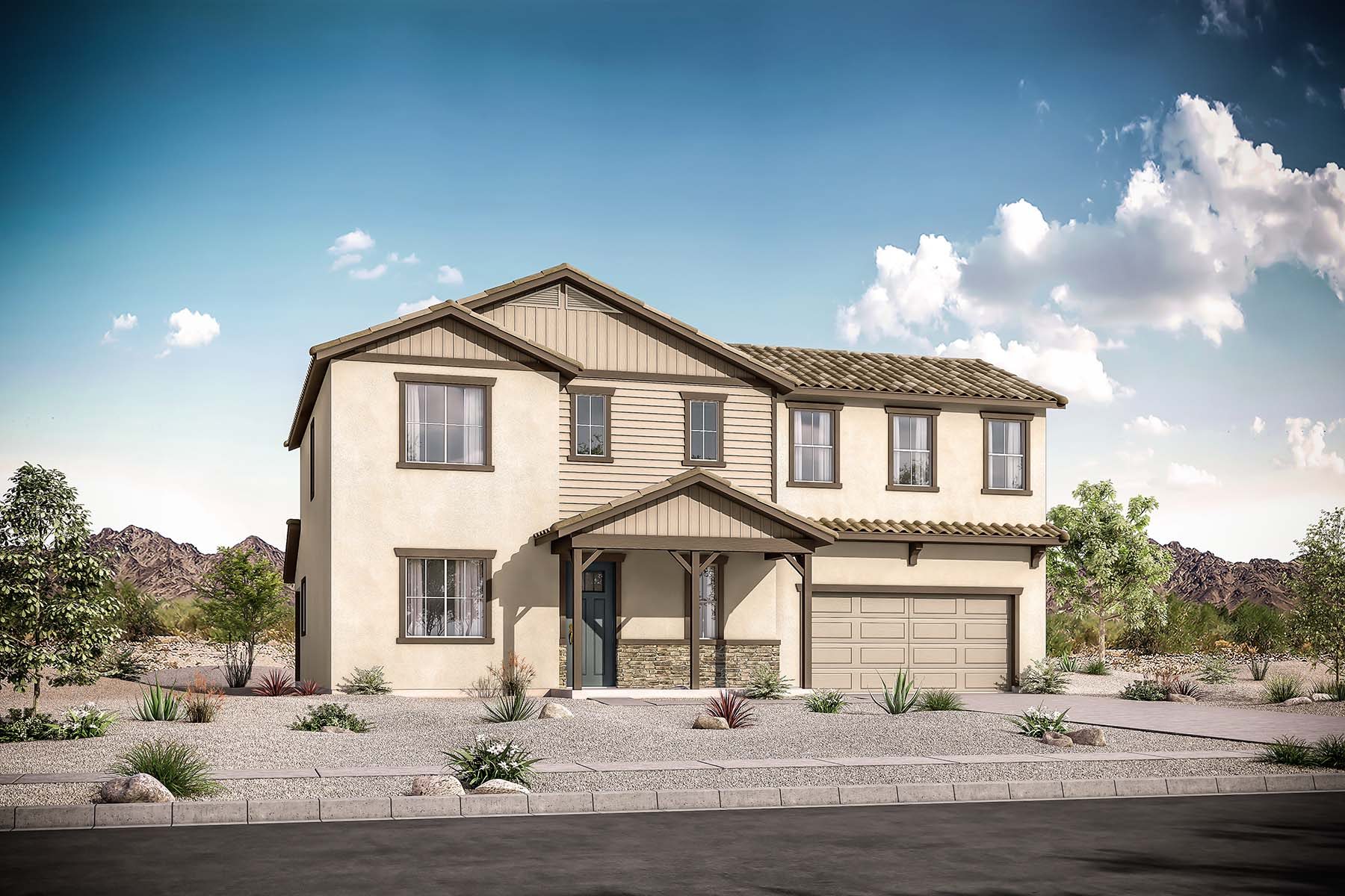 Meridian Plan  at Roosevelt Park in Avondale Arizona by Mattamy Homes