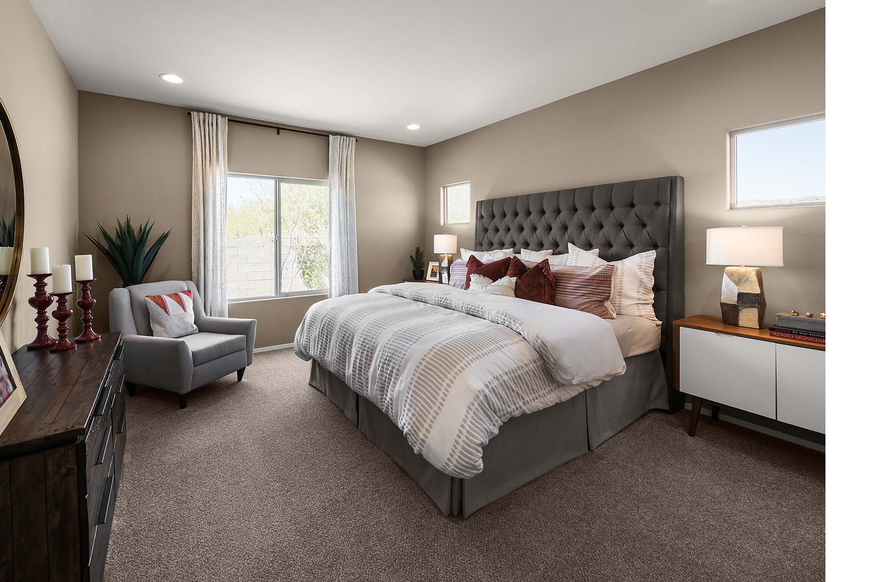 Benson Plan Bedroom at Solano at Sienna Hills in Buckeye Arizona by Mattamy Homes