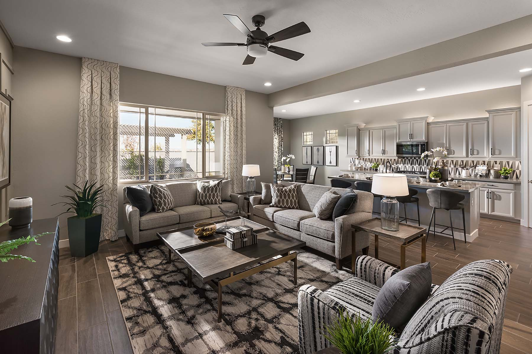 Bellwood Plan Greatroom at Vista Diamante at Camelback Ranch in Phoenix Arizona by Mattamy Homes
