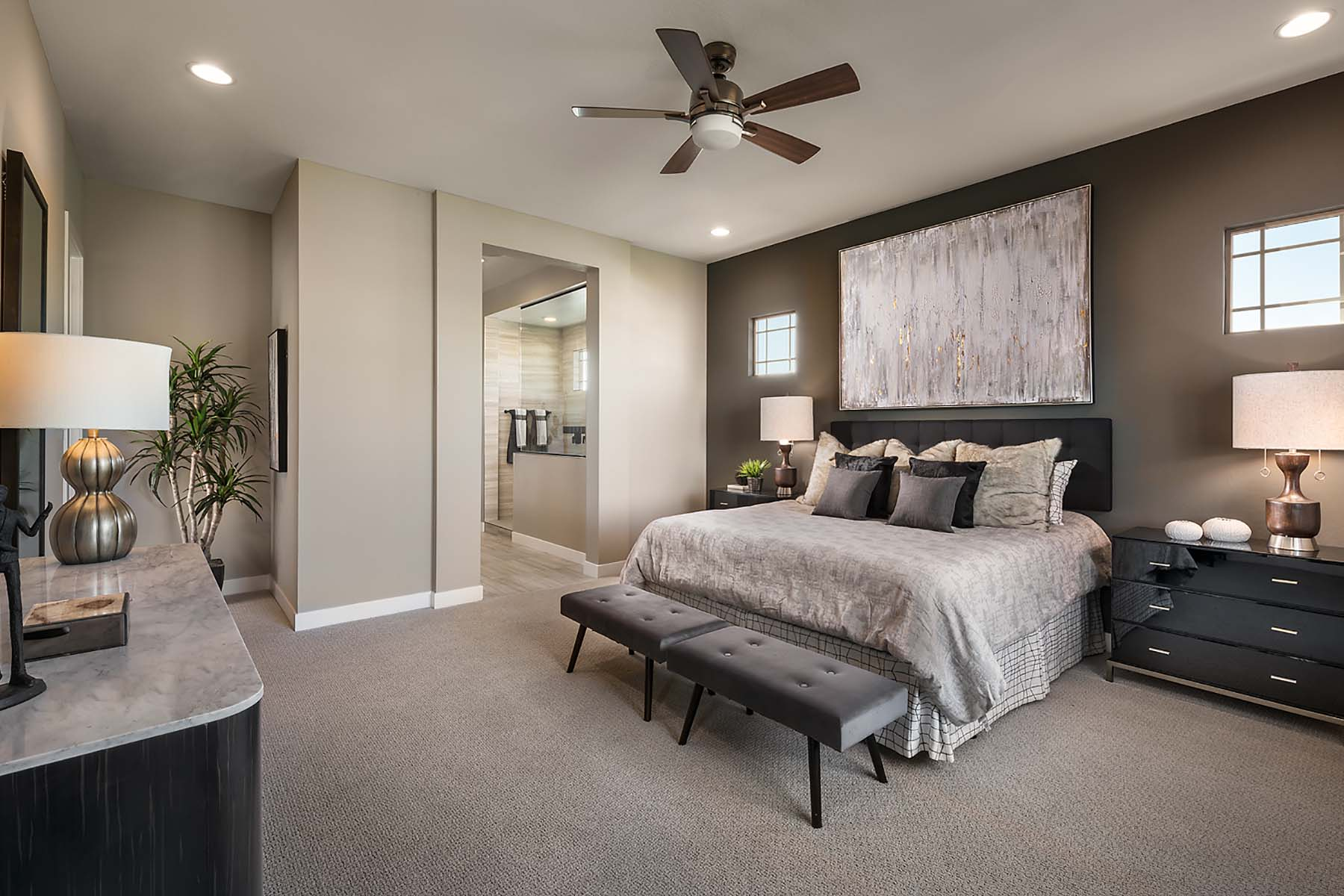 Bellwood Plan Bedroom at Vista Diamante at Camelback Ranch in Phoenix Arizona by Mattamy Homes