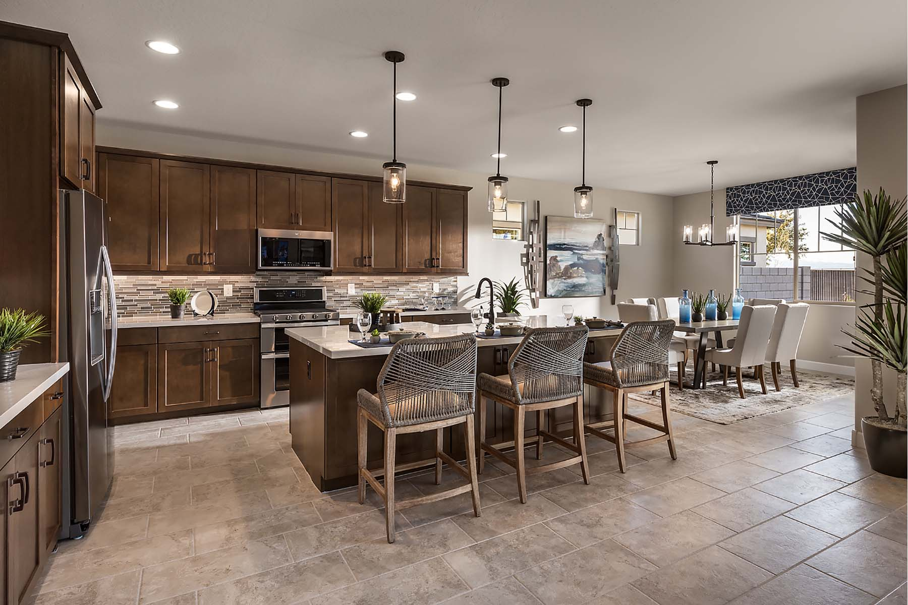 Leander Plan Kitchen at Vista Diamante at Camelback Ranch in Phoenix Arizona by Mattamy Homes
