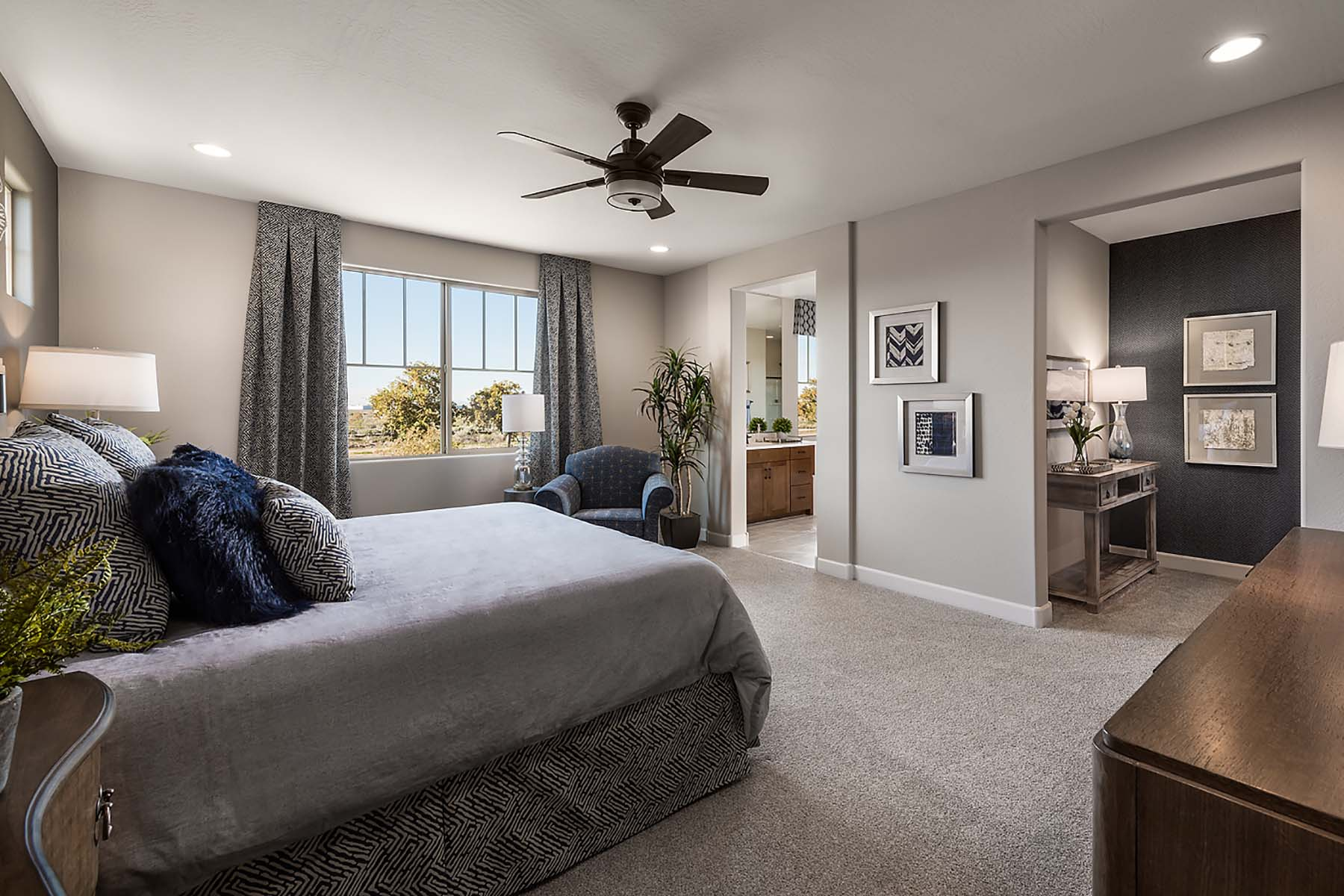 Leander Plan Bedroom at Vista Diamante at Camelback Ranch in Phoenix Arizona by Mattamy Homes