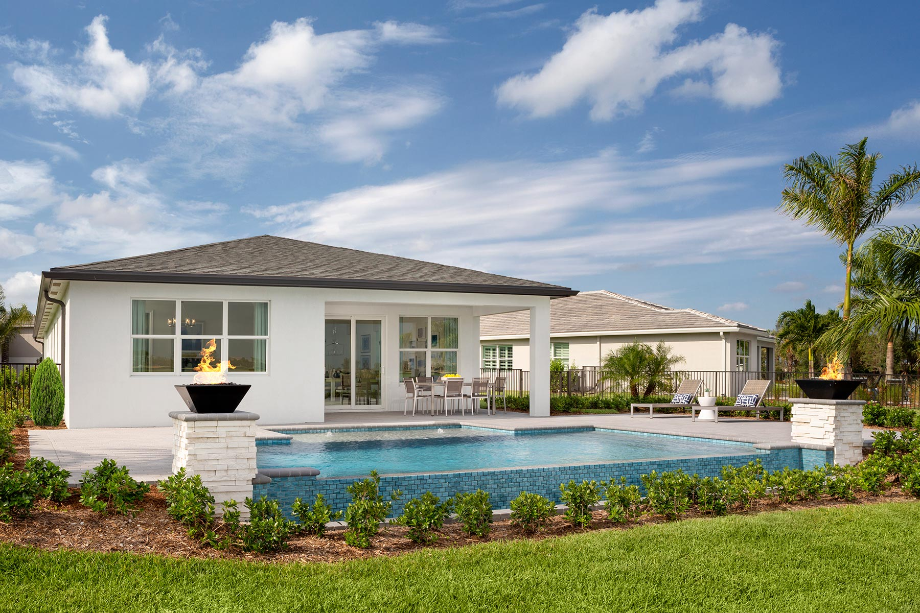 Tradition - Manderlie House Backyard in Port St. Lucie Florida by Mattamy Homes