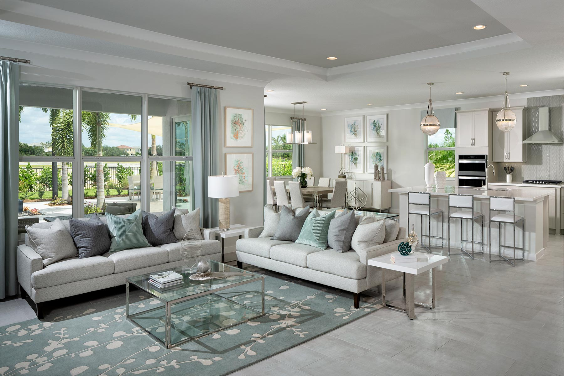 Tradition - Manderlie Greatroom in Port St. Lucie Florida by Mattamy Homes