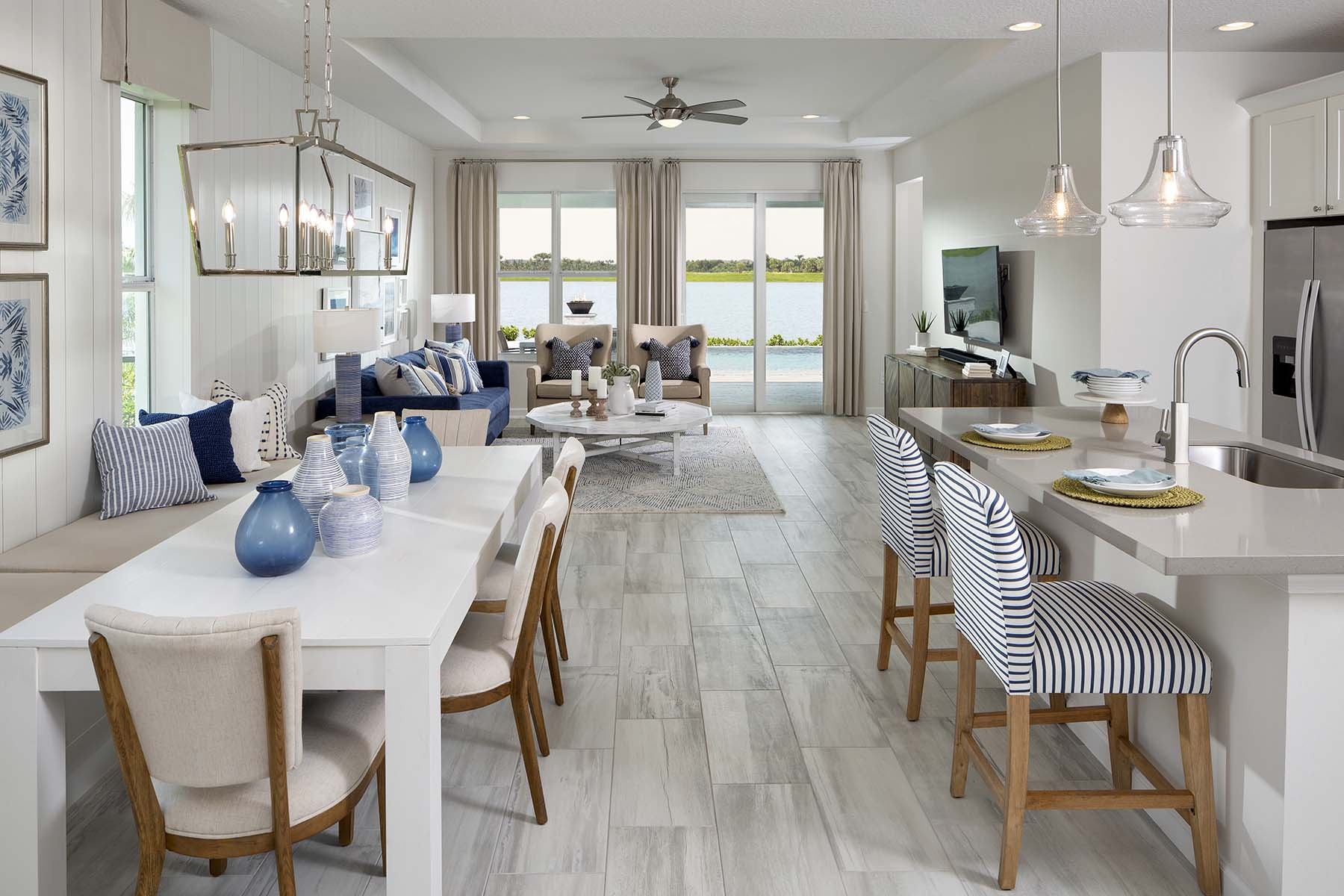 Aspen Plan Greatroom at Tradition - Manderlie in Port St. Lucie Florida by Mattamy Homes