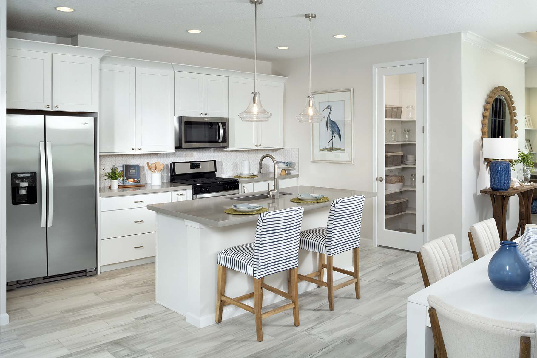 Aspen Plan Kitchen at Tradition - Manderlie in Port St. Lucie Florida by Mattamy Homes