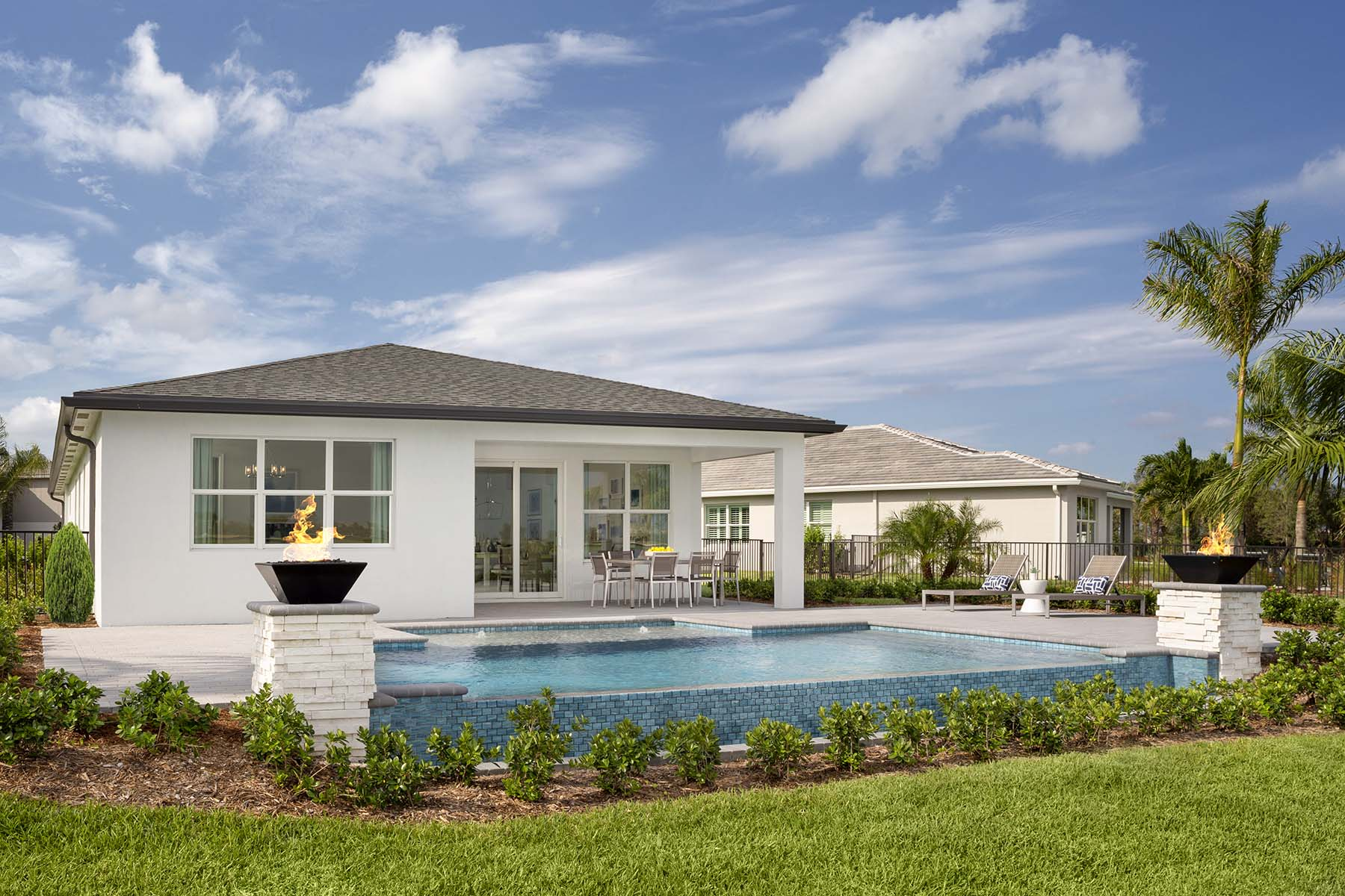 Aspen Plan House Backyard at Tradition - Manderlie in Port St. Lucie Florida by Mattamy Homes