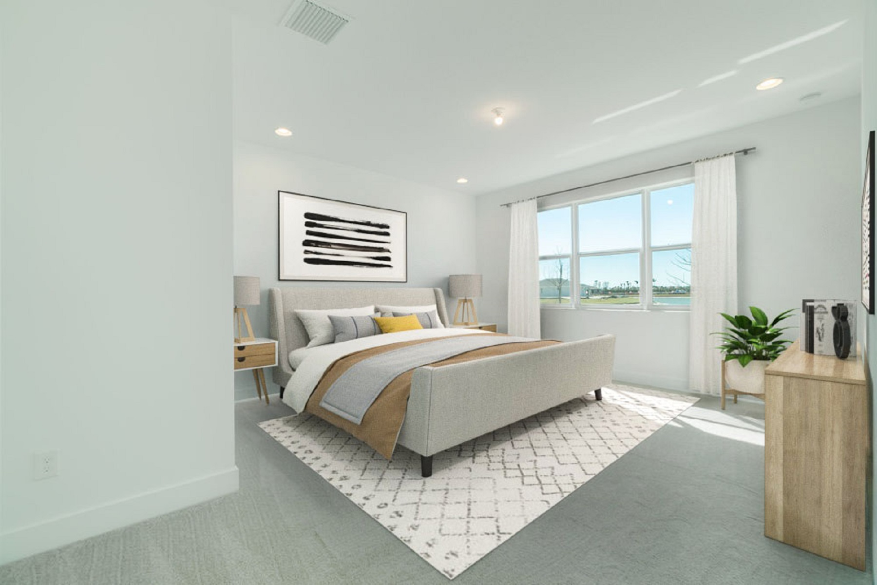 Bellflower Plan Bedroom at Tradition - Manderlie in Port St. Lucie Florida by Mattamy Homes