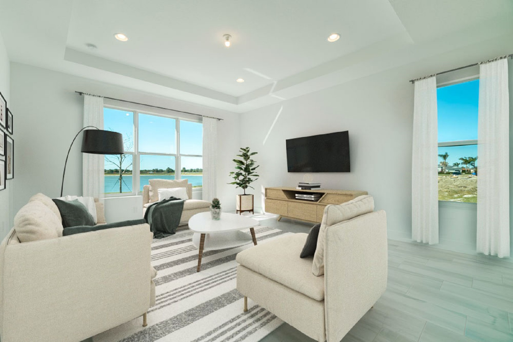 Bellflower Plan Greatroom at Tradition - Manderlie in Port St. Lucie Florida by Mattamy Homes