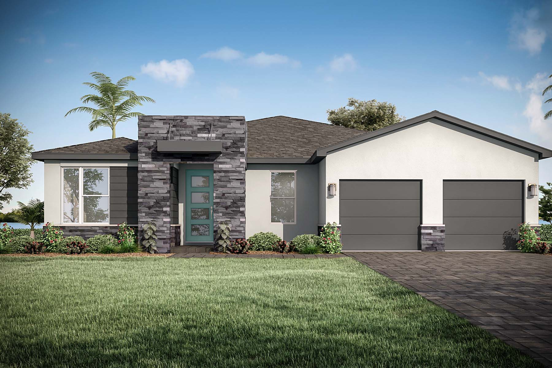 Bellflower Plan Elevation Front at Tradition - Manderlie in Port St. Lucie Florida by Mattamy Homes