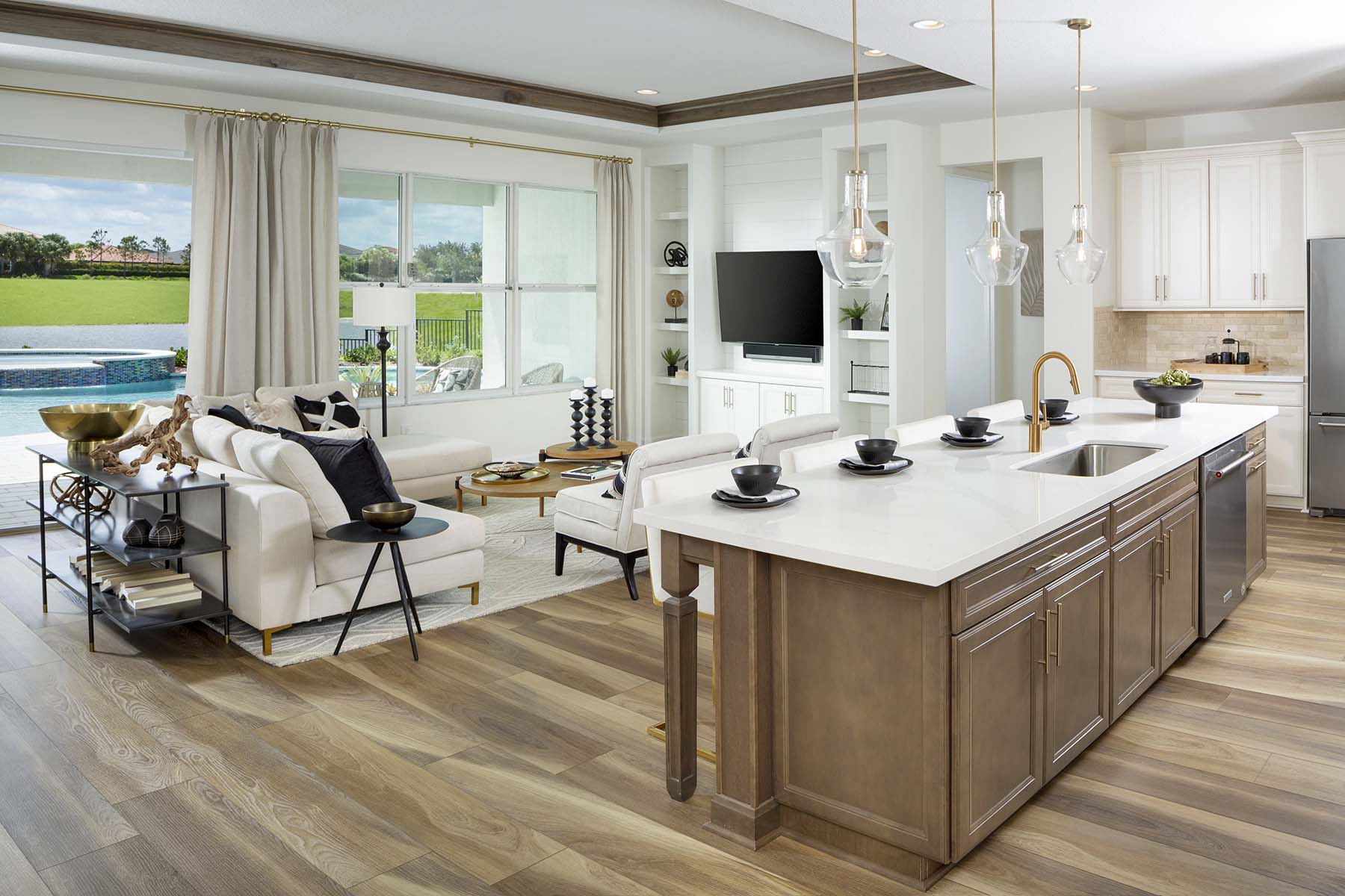 Dahlia Plan Greatroom at Tradition - Manderlie in Port St. Lucie Florida by Mattamy Homes