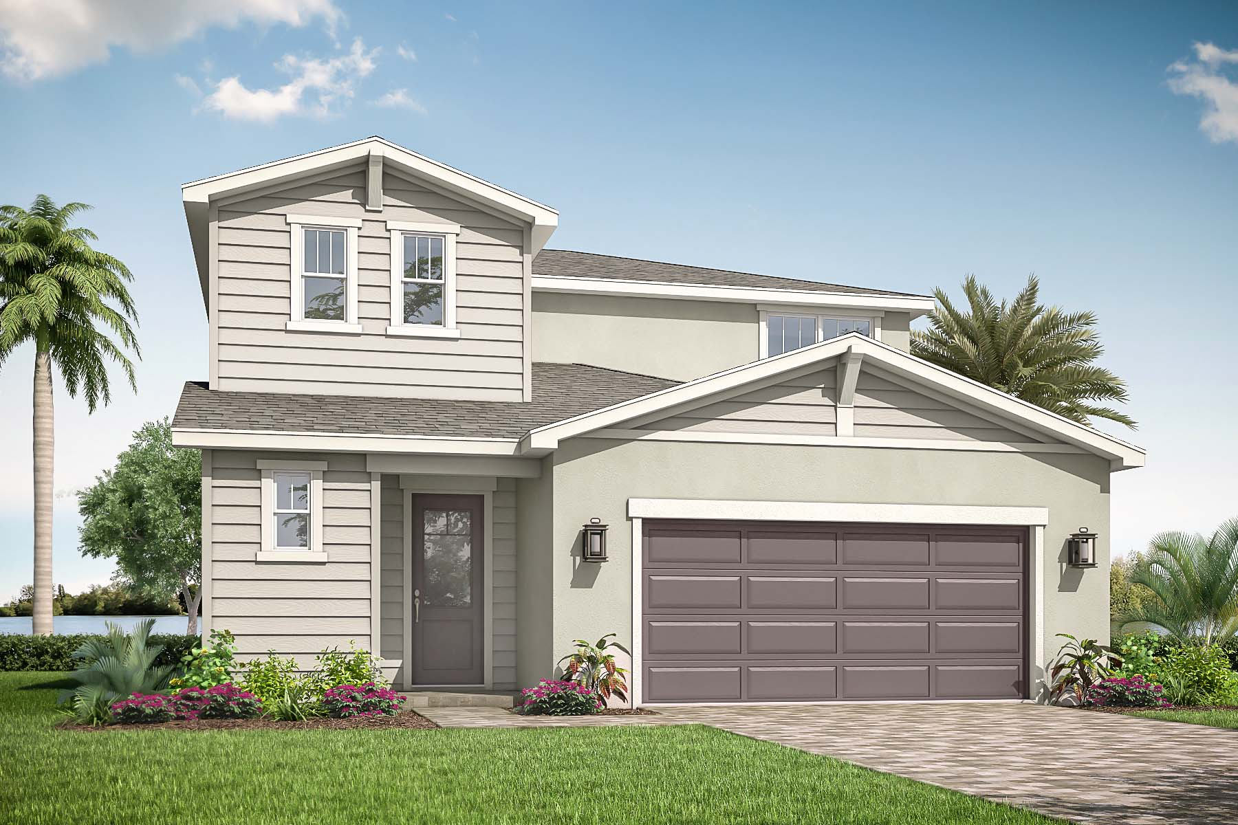 Danbury Plan Elevation Front at Tradition - Manderlie in Port St. Lucie Florida by Mattamy Homes